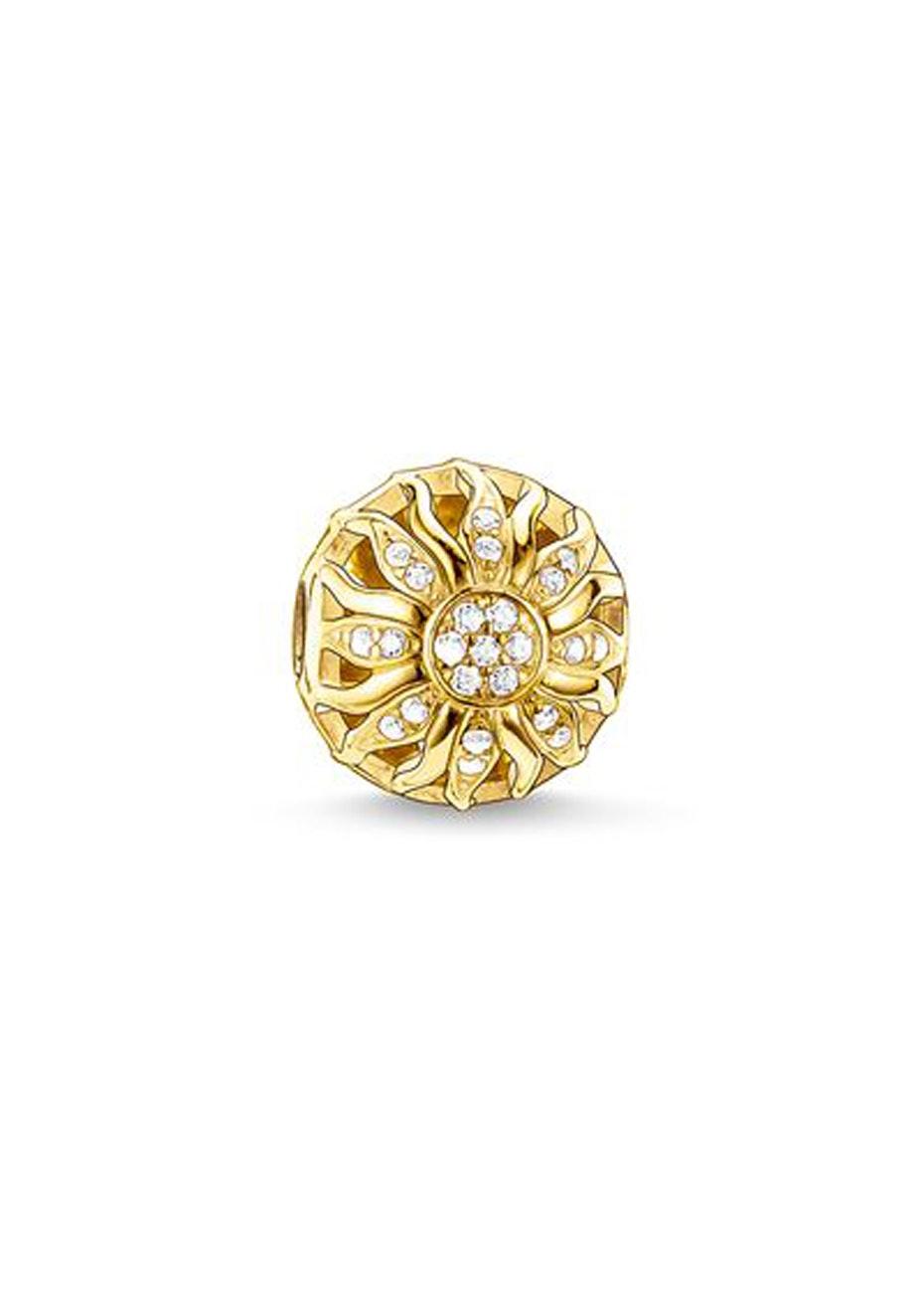 Thomas Sabo  - Karma Bead - Yellow Gold Plated Cz Sun