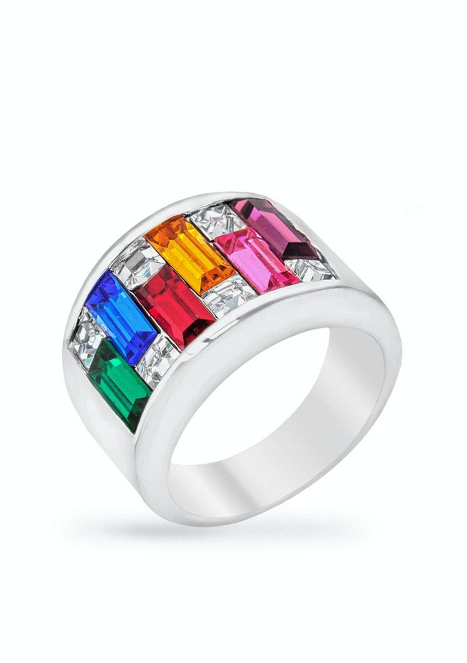 Pokoba Ring w Swarovski Crystals Ft Swarovski Elements
