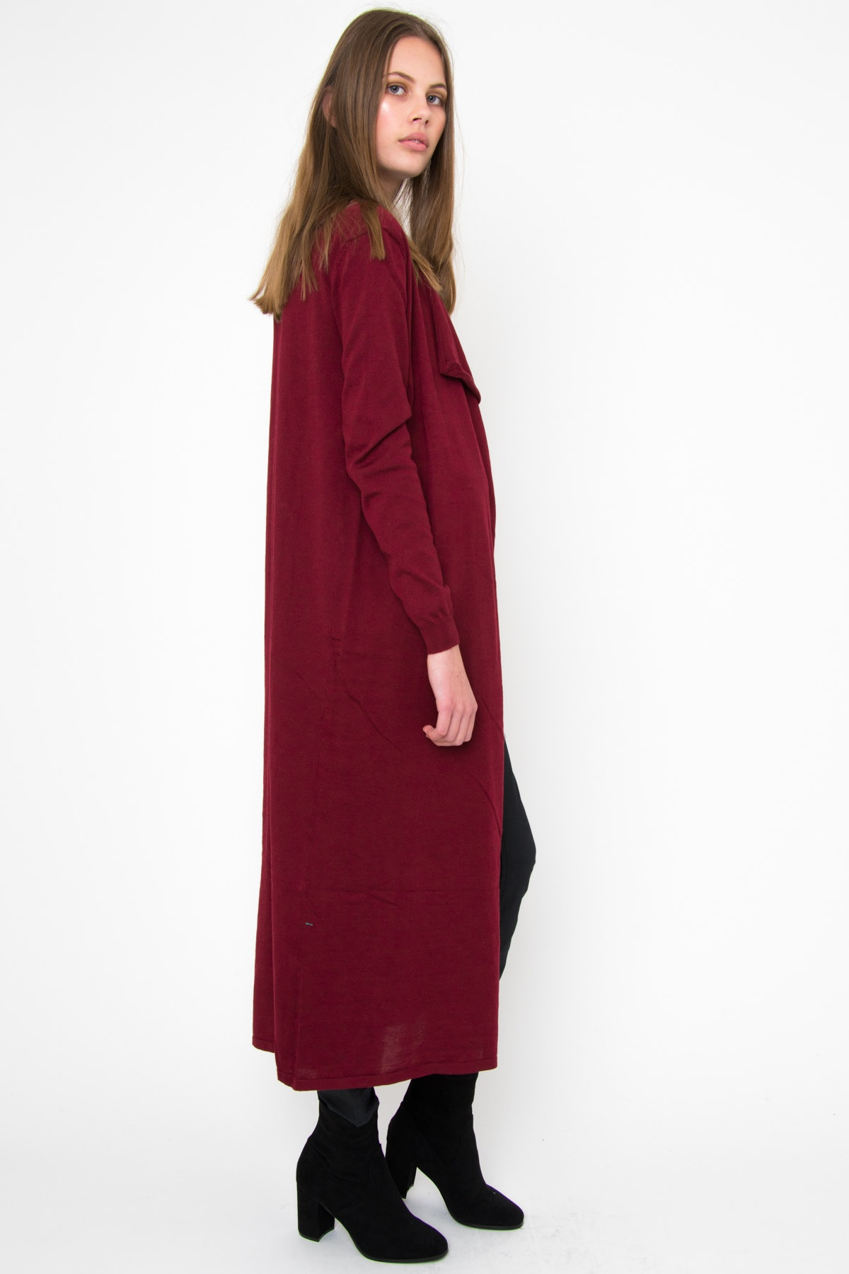 Ebby and I - Collete Maxi Cardigan - Burgundy - Airlie / Ellis ...