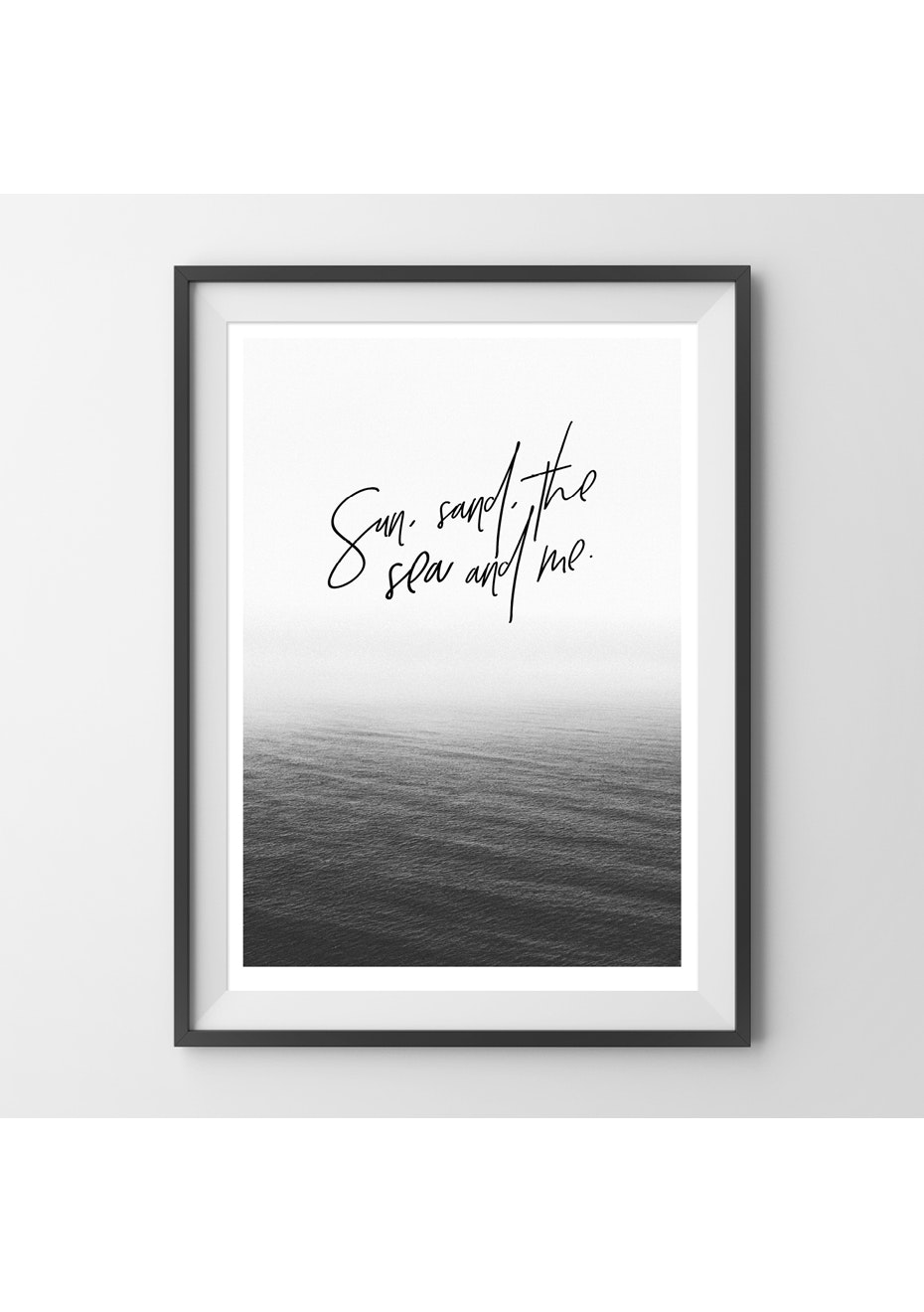 Simply Creative - The Sea And Me  - A3 Colour Print