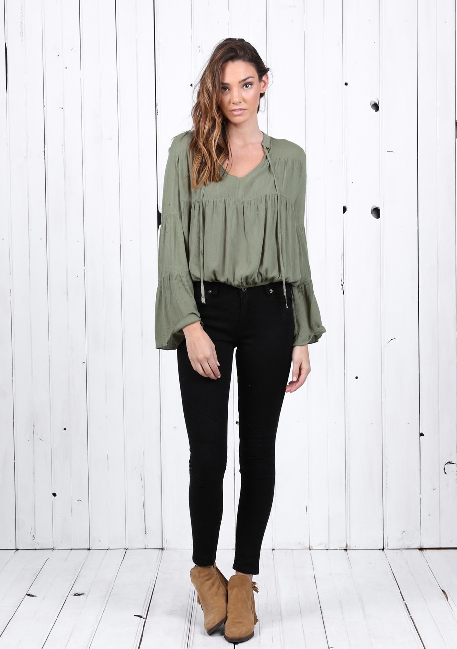 Madison - GODIVA BLOUSE - KHAKI