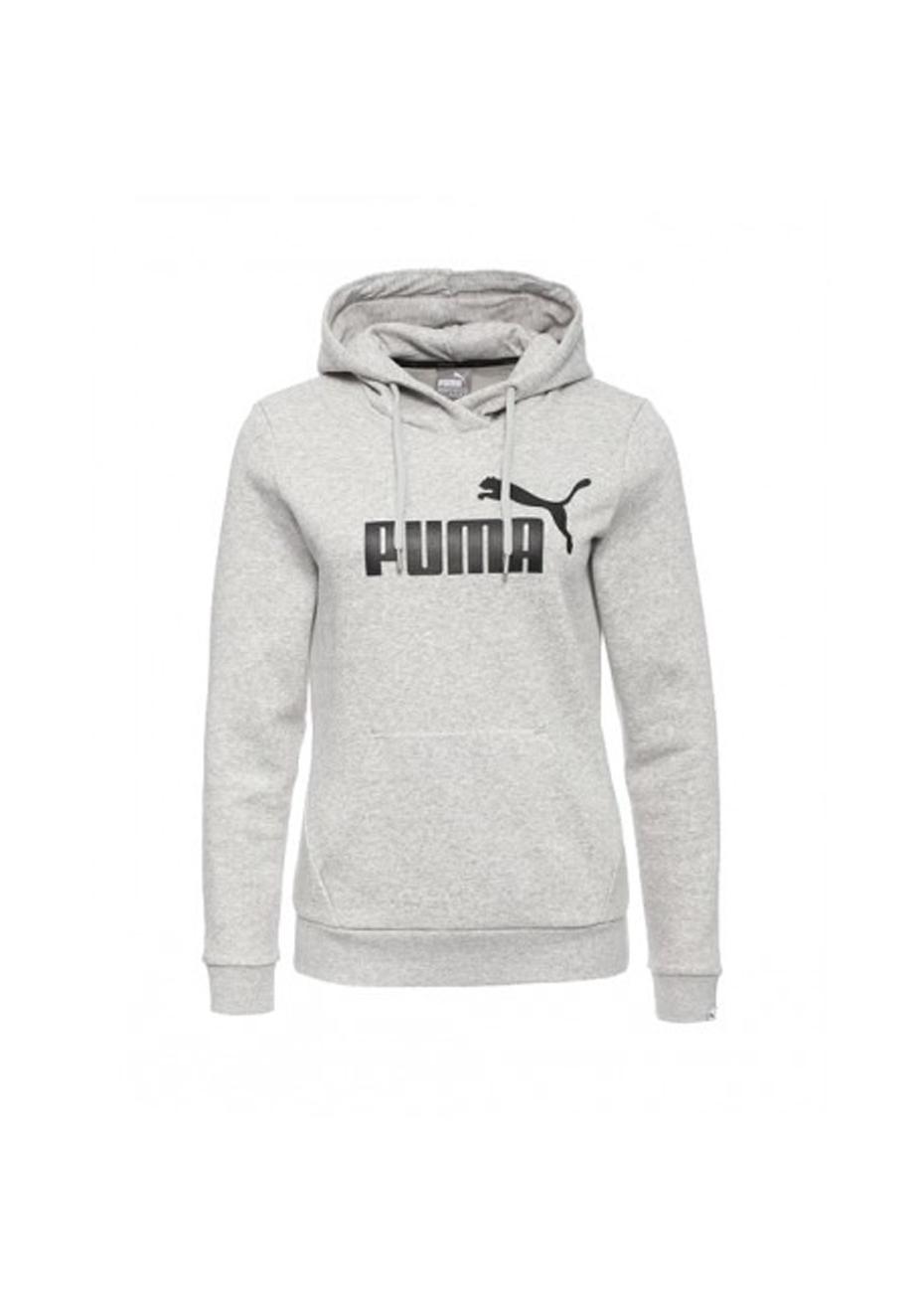 Puma ESS Logo Hoody Light Grey