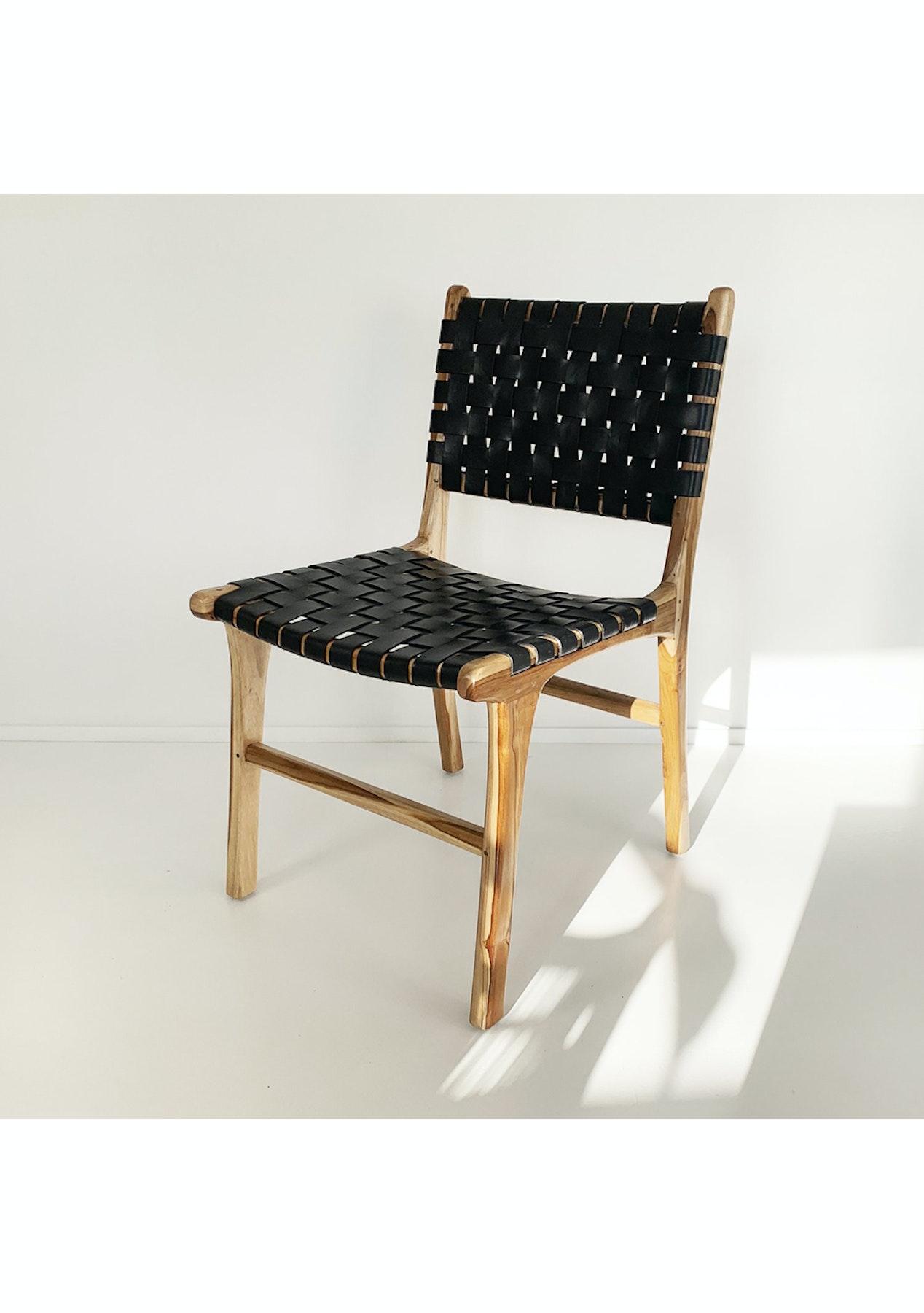 Astonishing Souk Collective Katjia Dining Chair Natural Black Theyellowbook Wood Chair Design Ideas Theyellowbookinfo