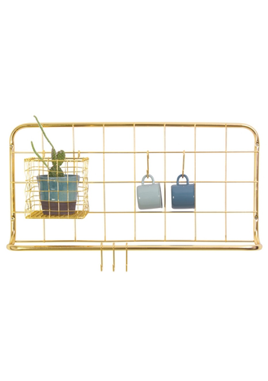 Pt Home - Kitchen Rack Set - Grid Gold