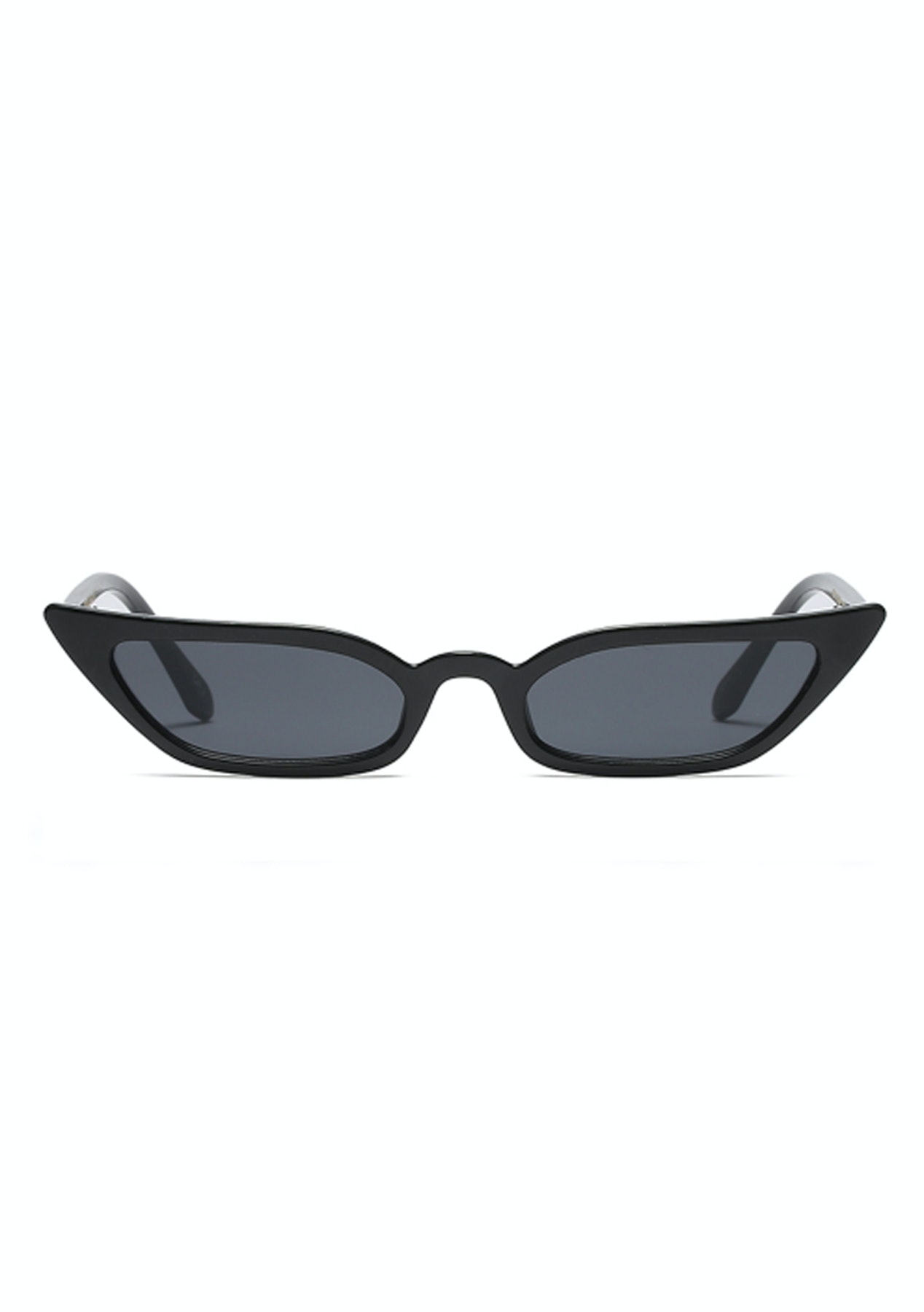 68473f60a805f Slim Cat Eye Sunglasses - Black - On Trend Sunnies   Bags - Onceit
