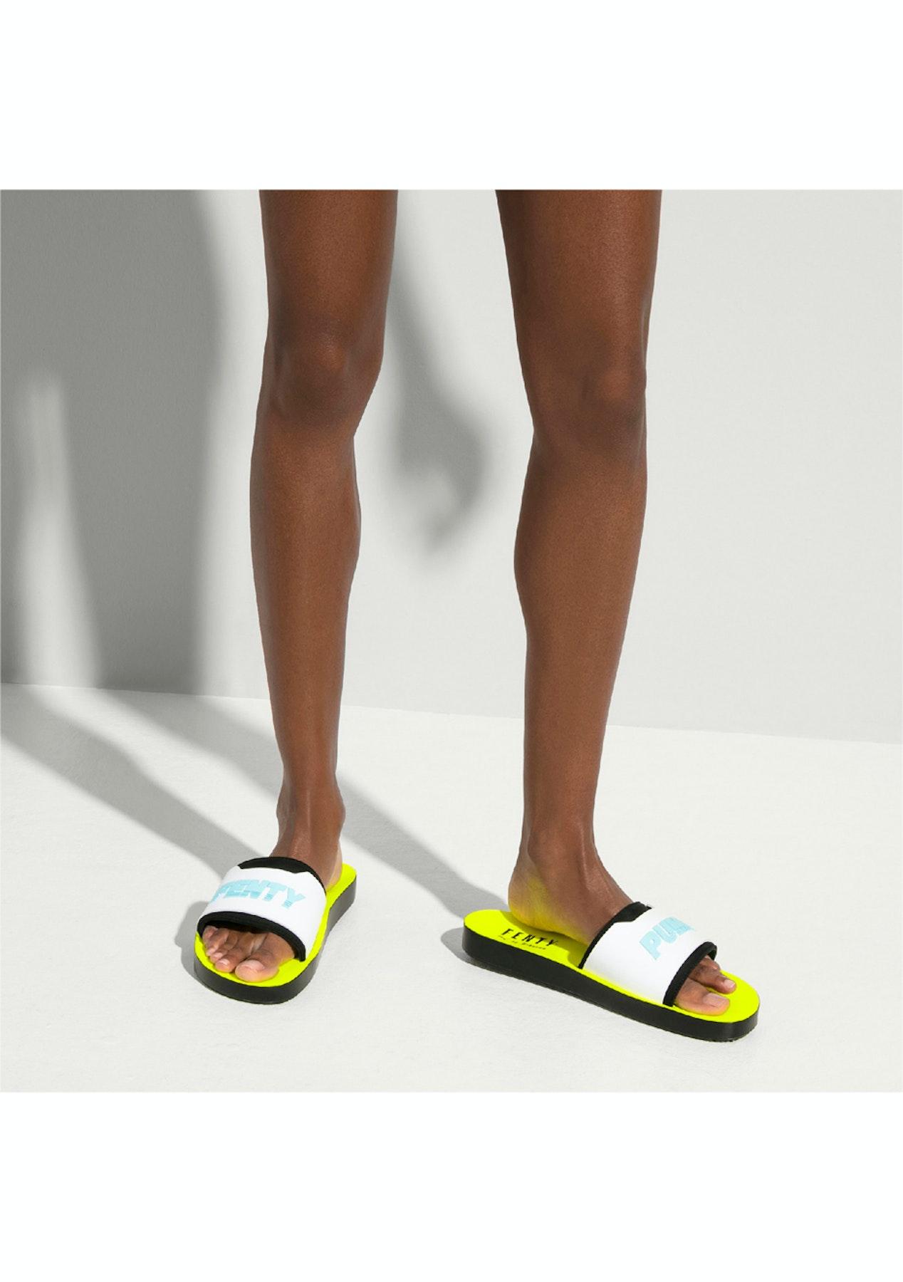 buy online ea45f 2d8a6 FENTY Womens Surf Slide - Black/White