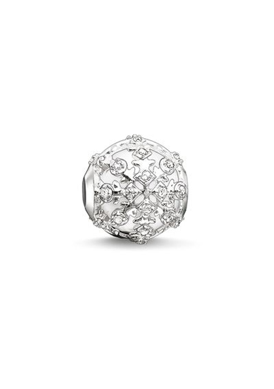 Thomas Sabo  - Karma Bead - Snowflake Cz Agate