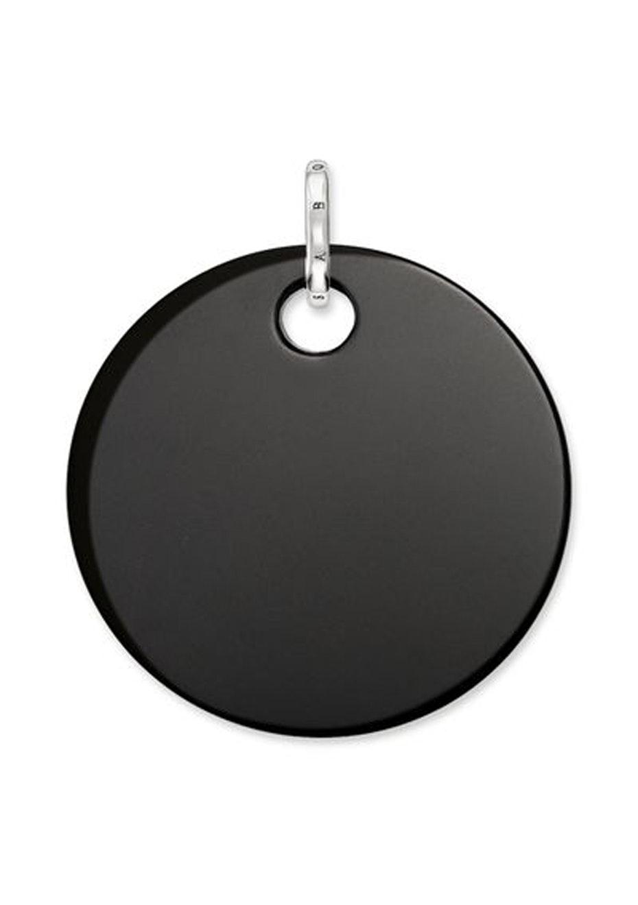 Thomas Sabo  - Onyx Disc Lge Pendant