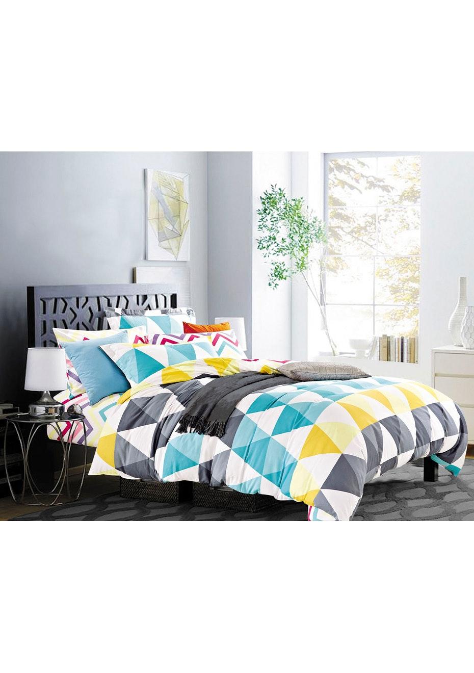 Retreat Quilt Cover Set - Queen Bed - Reversible Design