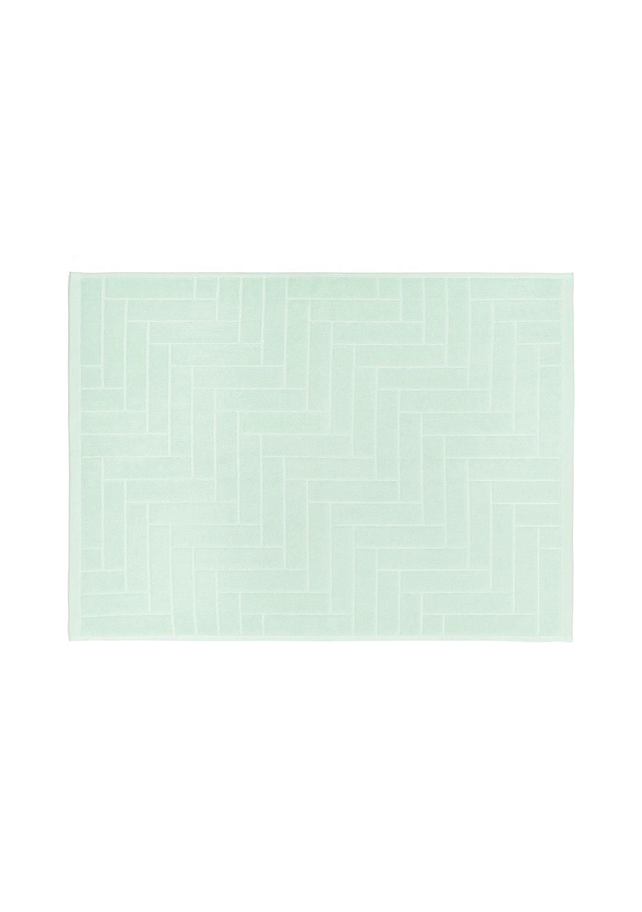 Aura Parquet Bath Mat 600 X 800Mm Pastel Mint