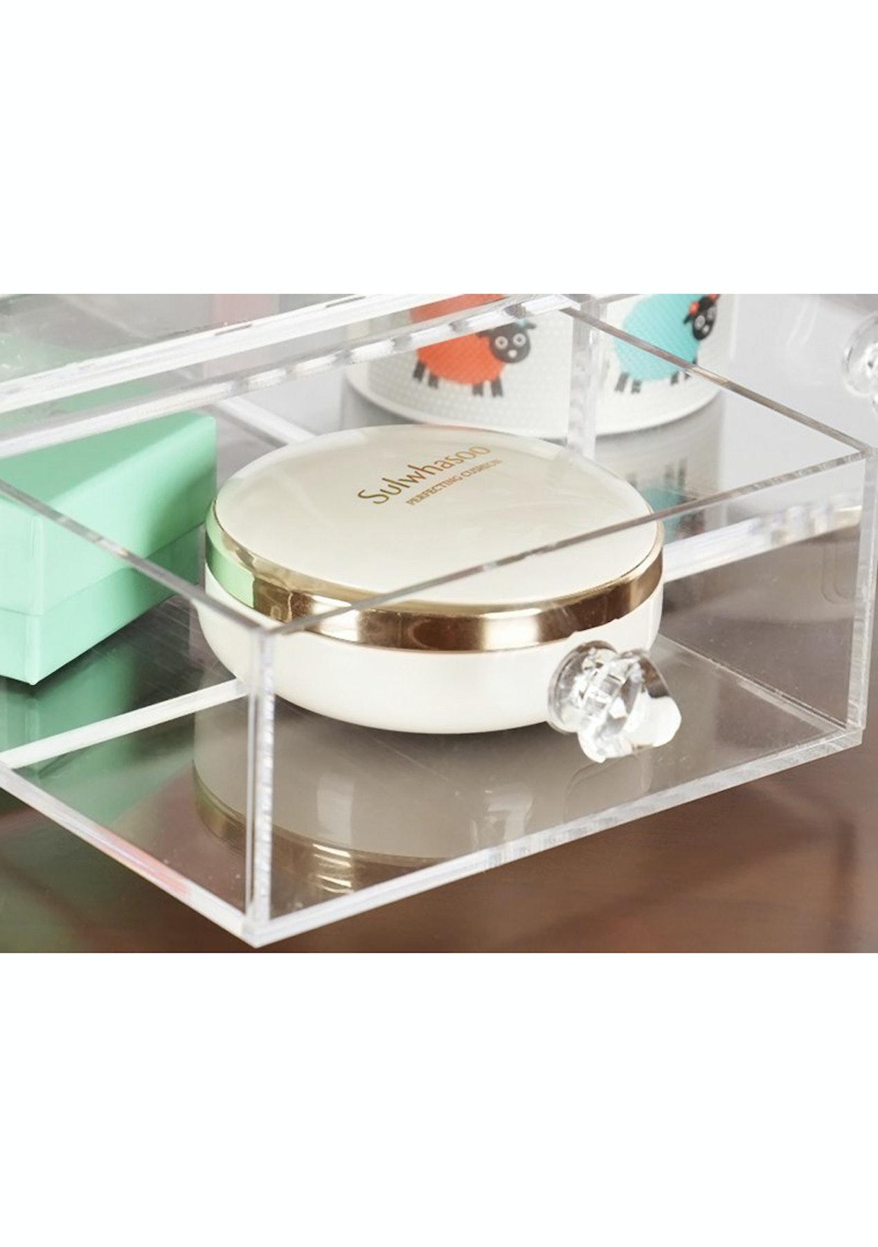 Clamshell Make Up Organiser Cosmetics Storage Box