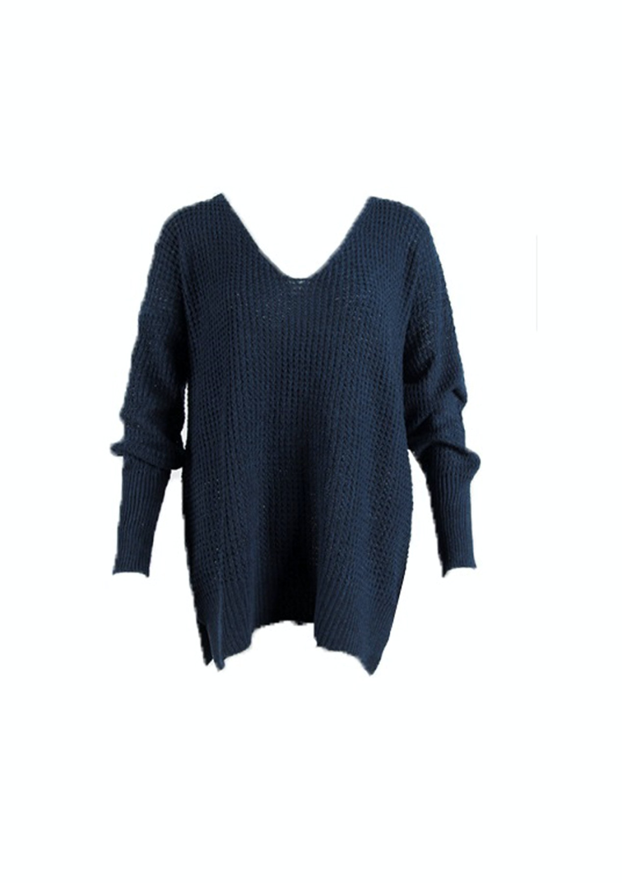 d65a58603f7e9d Lulu Chunky Knit Jumper - Navy - PRESALE  Easy to wear Layers - Onceit