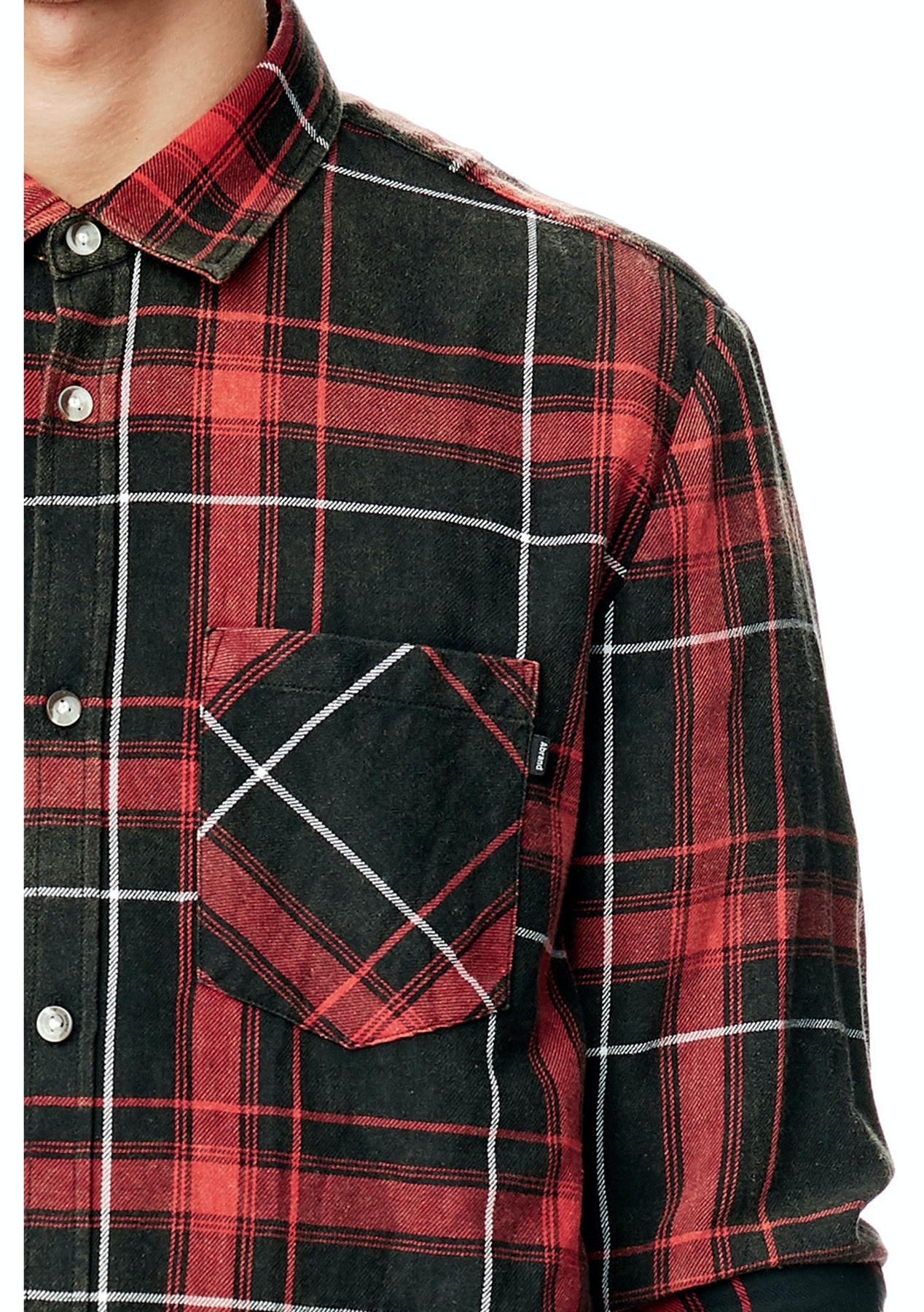 A Brand - Shred Check Shirt - Shred Red