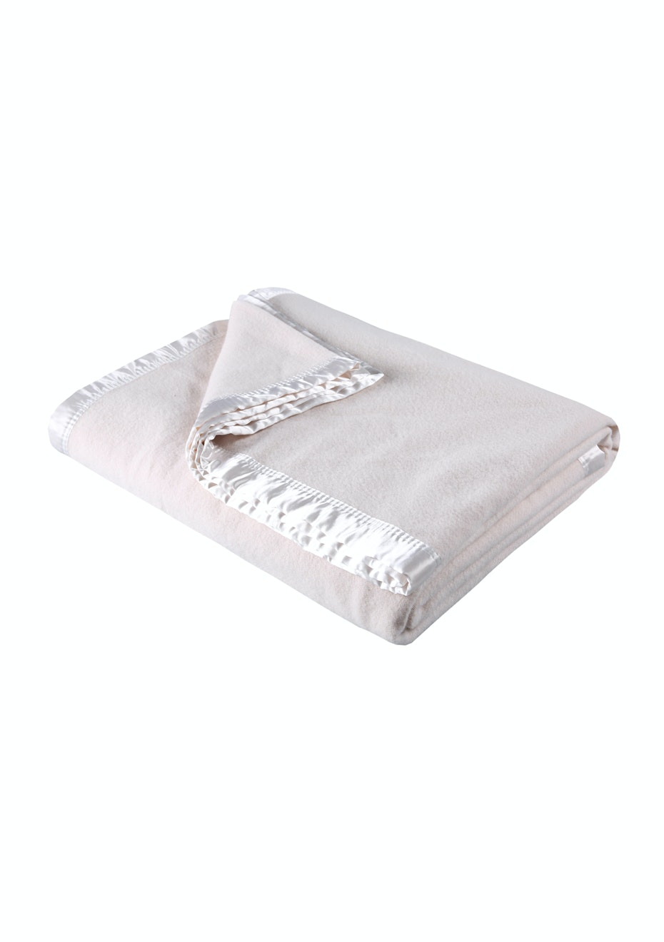 Double Bed Ivory Washable Wool Blanket