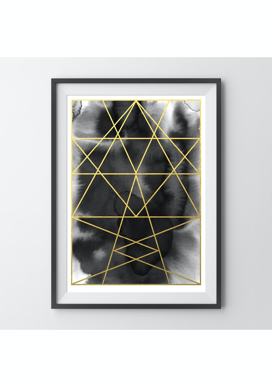 Simply Creative - Onyx - A3 Gold Foil Print