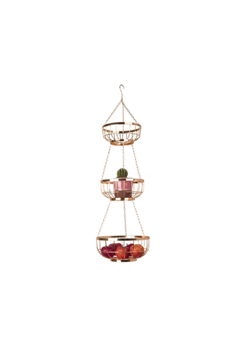 Pt Home - Set of 3 Hanging Baskets - Copper