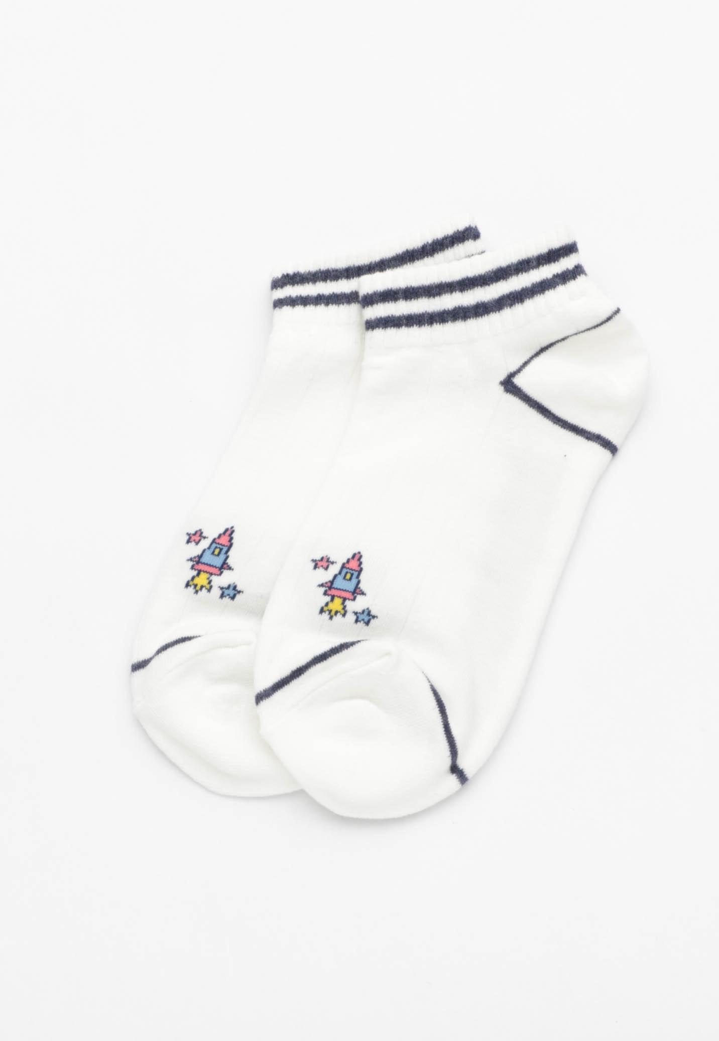 Rocket Ankle Socks - White