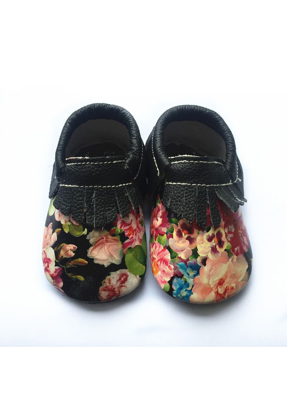 Baby  Leather Shoes - Multi Flower
