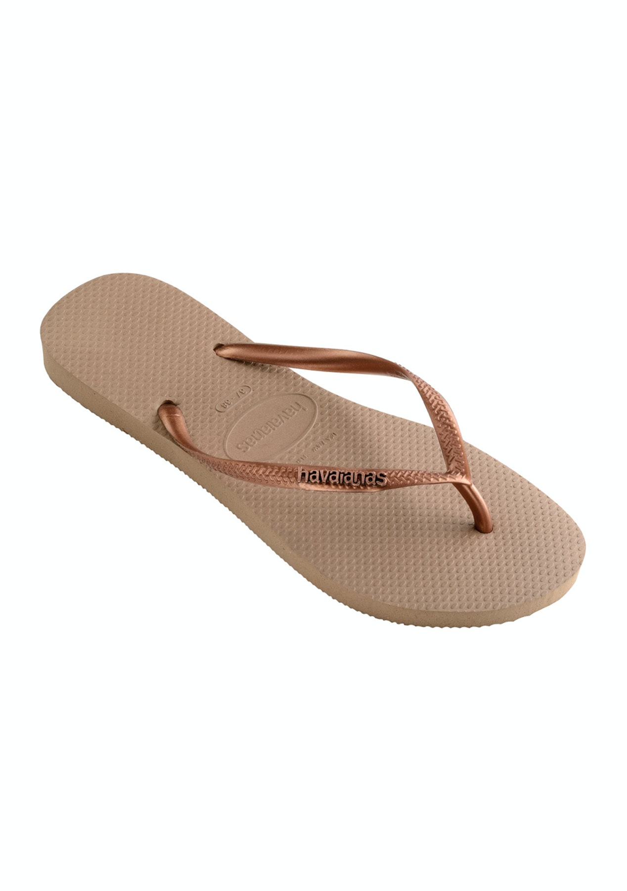 fcf019c00 Havaianas - Slim Logo Metallic - Rose Gold   Copper - Havaianas for the  Family from  9.99 - Onceit