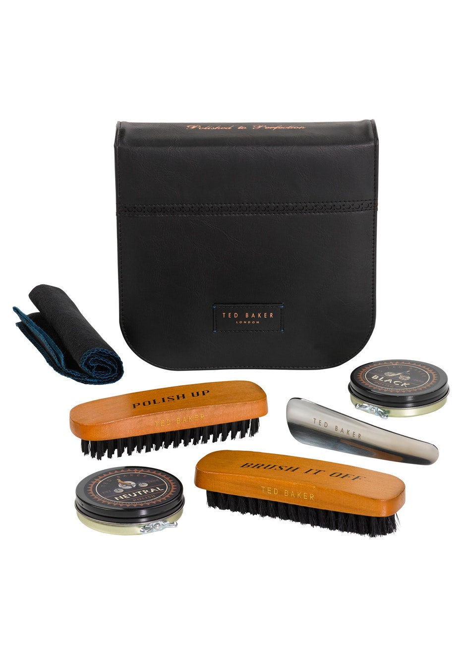 Ted Baker - Mens Brogue Shoe Shine Kit - Black