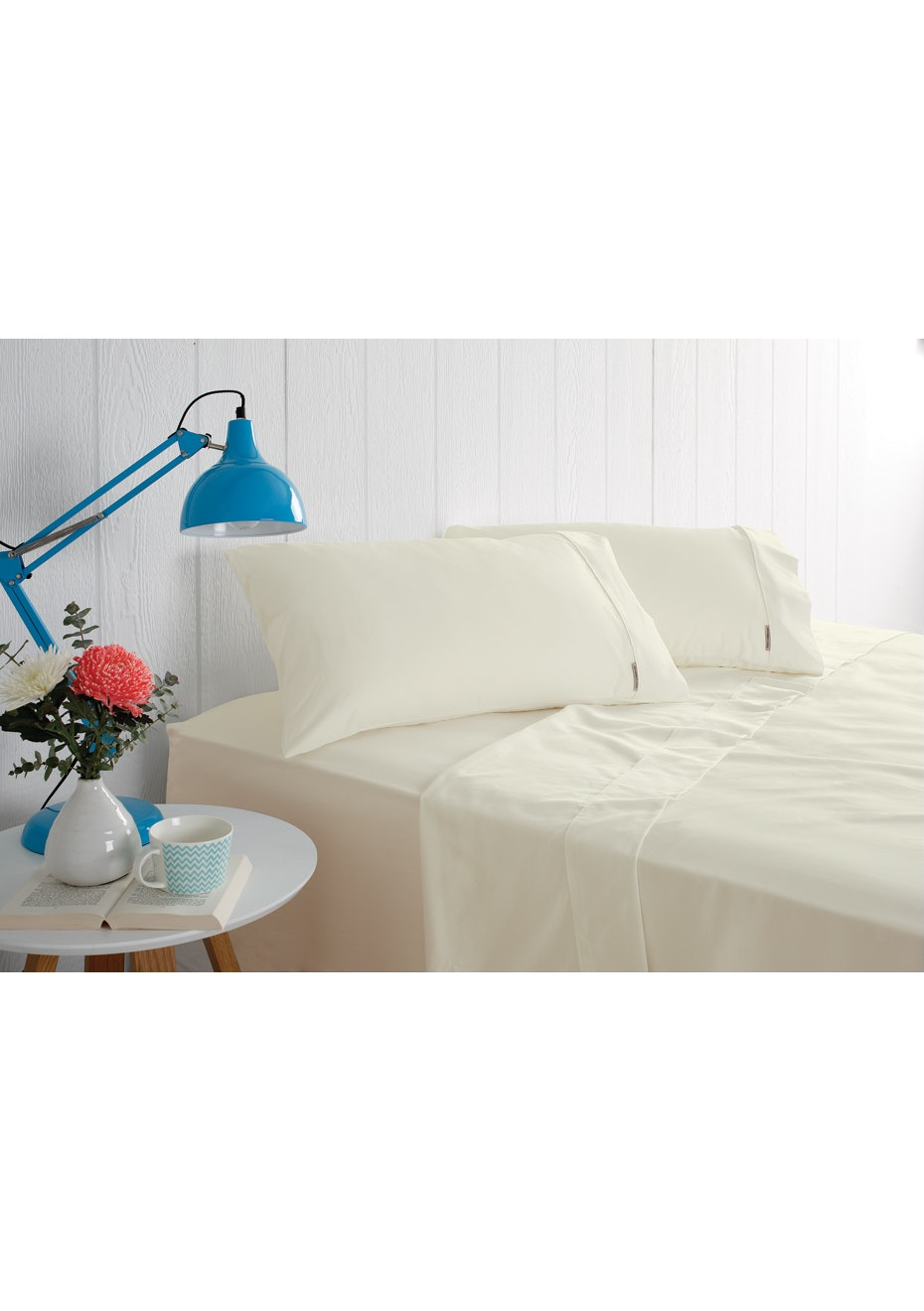Odyssey Living 1000 Thread Count – Cotton Rich Sheet Sets - Ivory - Queen Bed