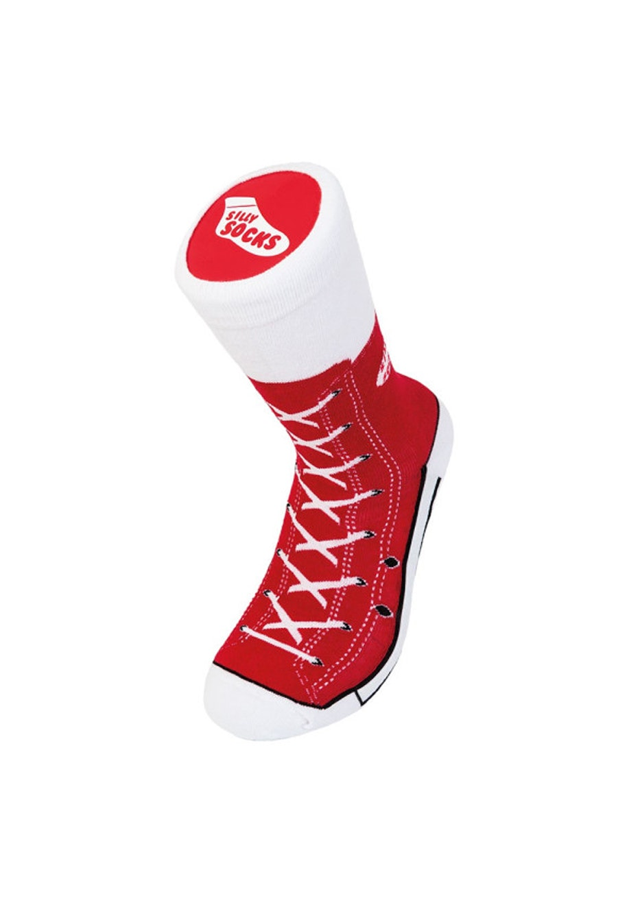 Silly Socks - Adult Sneaker Red (One Size)