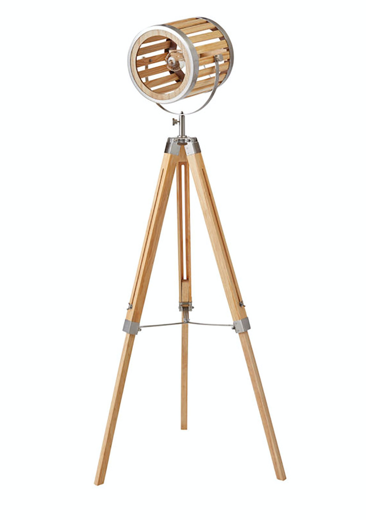 Amalfi Roland Floor Lamp Natural Pine Satin Nickel Colours Of The Season Earth Tones Onceit