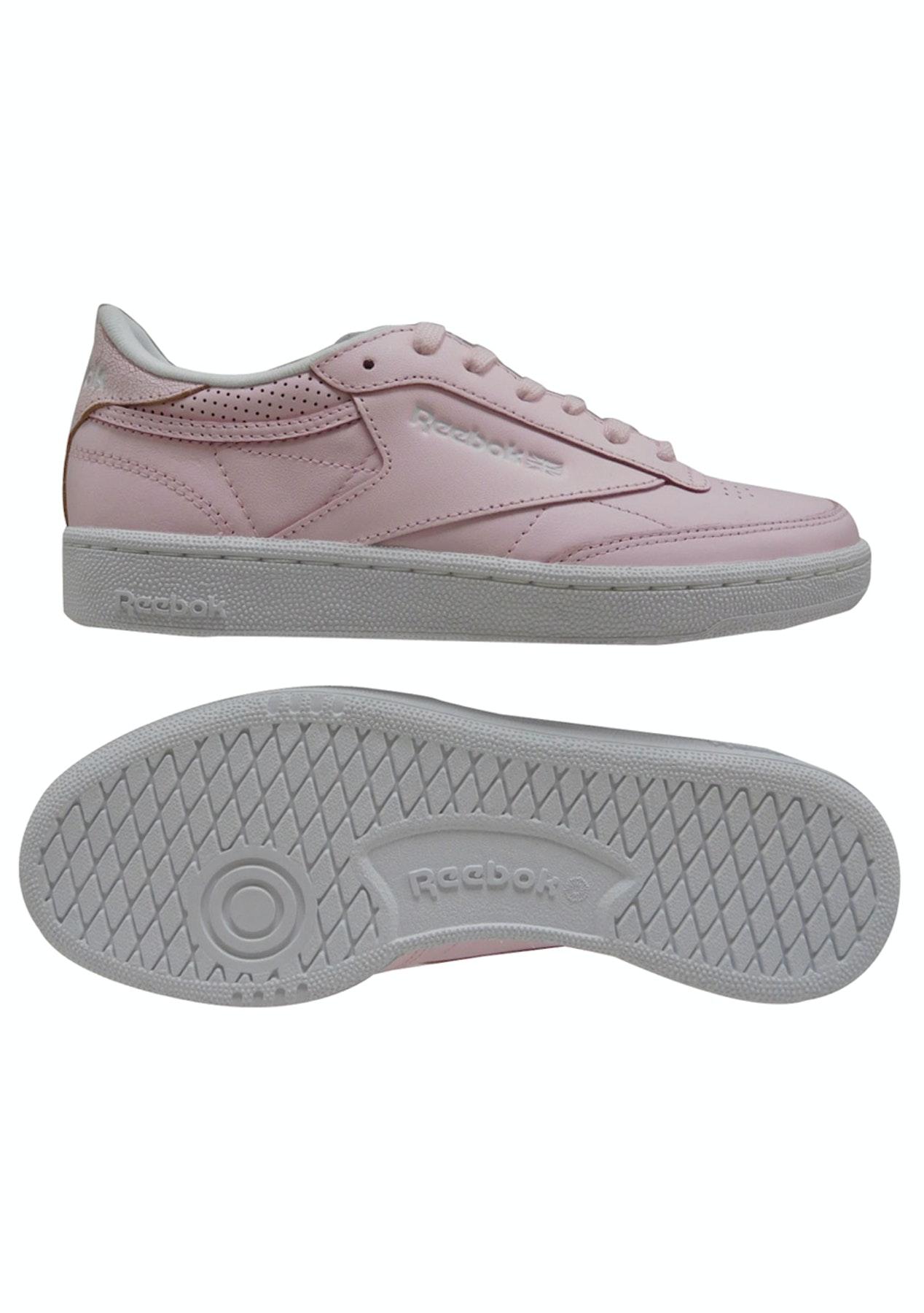 Reebok Womens - Club C 85 Fbt - Pink Wht Silver Skul - 50% off Reebok -  Onceit b28bdf1b3