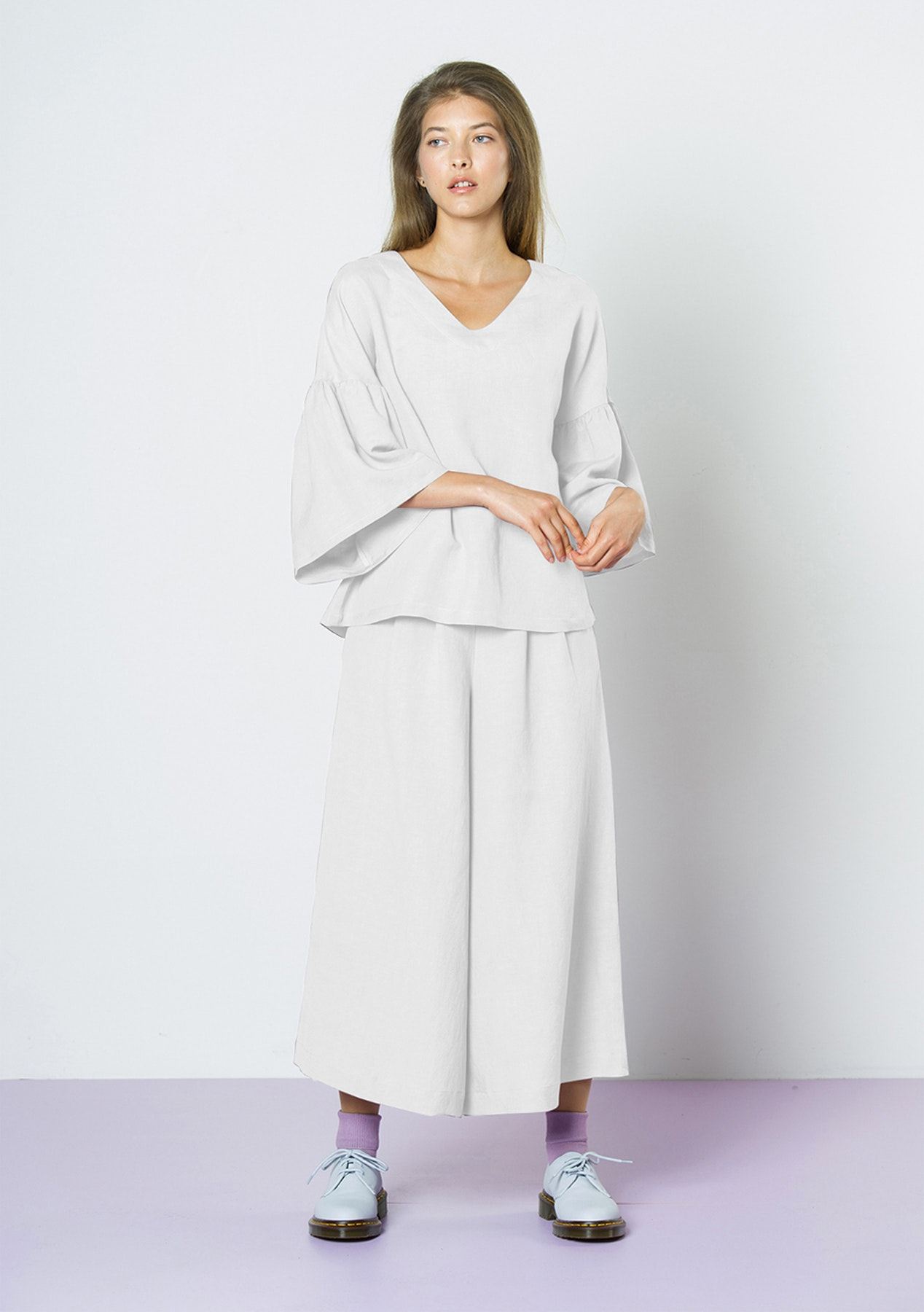 79c68c7a86bee3 Twenty-Seven Names - Waterfalls Linen Top - White - NZ Designer Sale -  Onceit