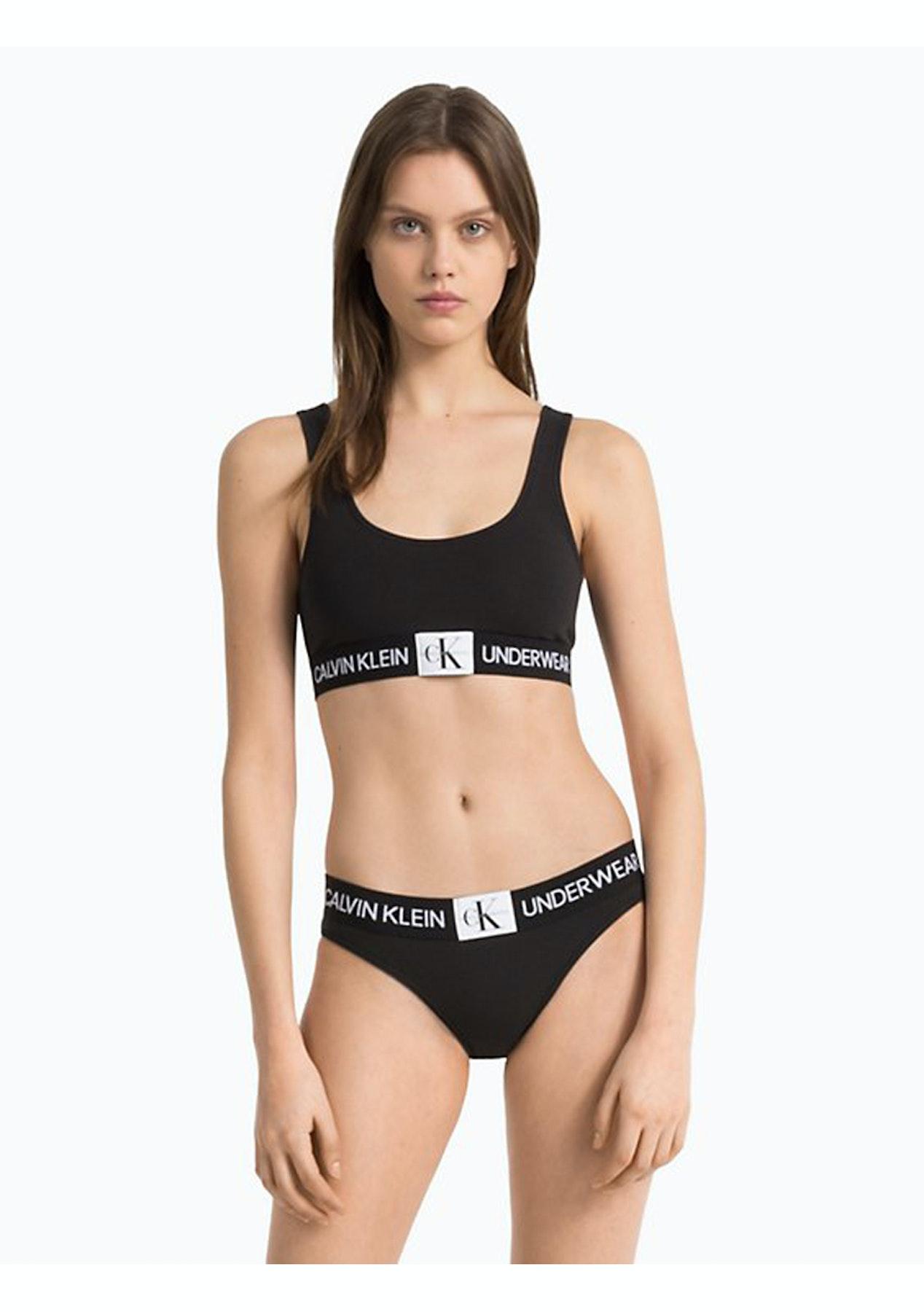 5dd9d7aaf3 Calvin Klein - Monogram Unlined Bralette - Black - Calvin Klein 3 Packs    More - Onceit