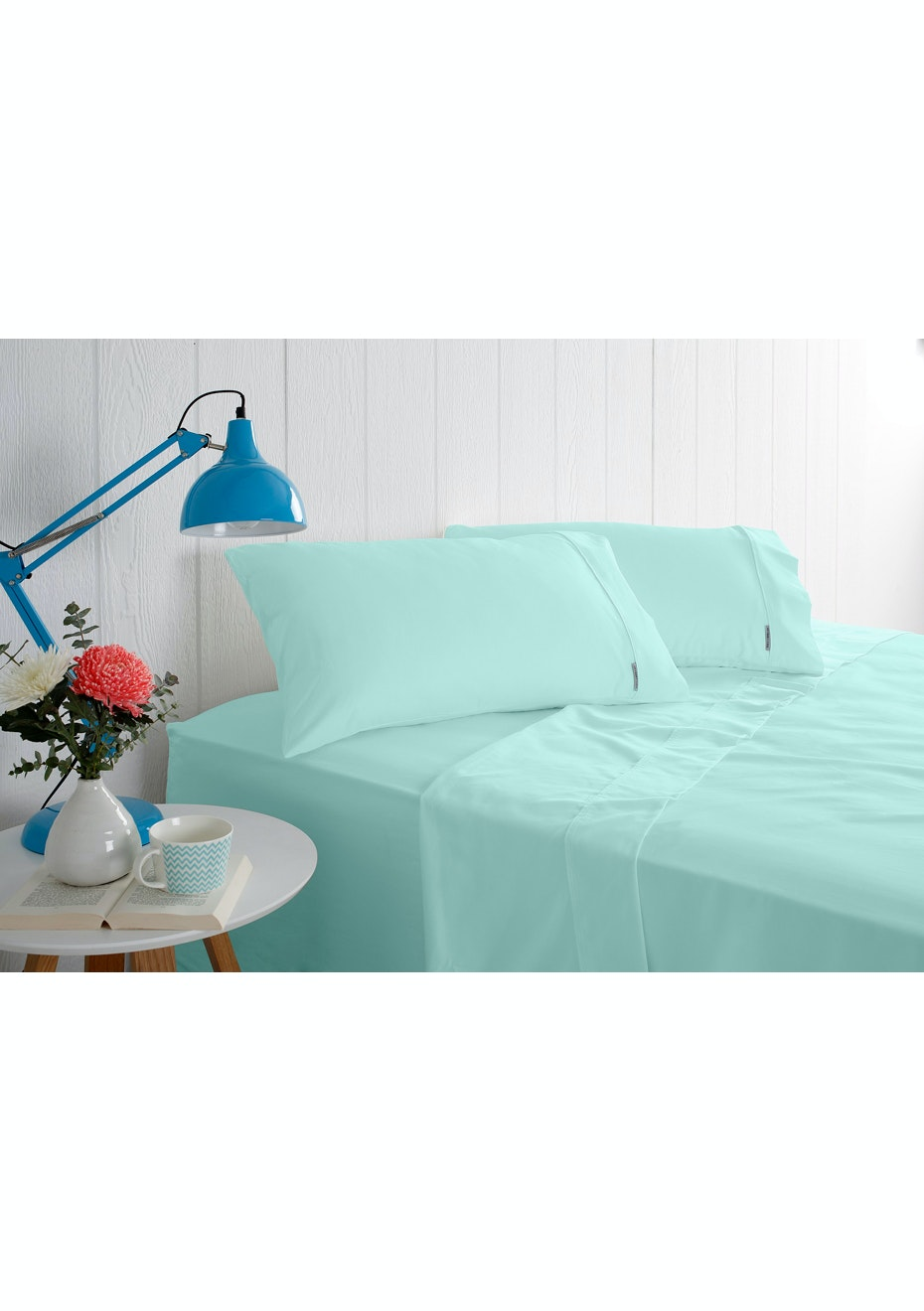 Odyssey Living 1000 Thread Count – Cotton Rich Sheet Sets - Mint - Queen Bed