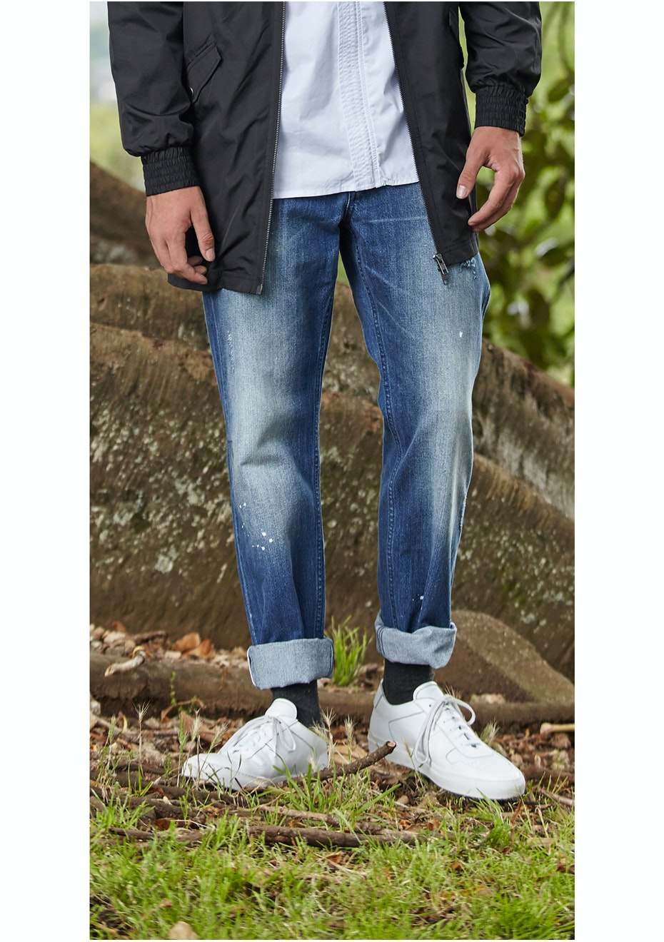 I Love Ugly - Straight Leg Denim - Blue Wash