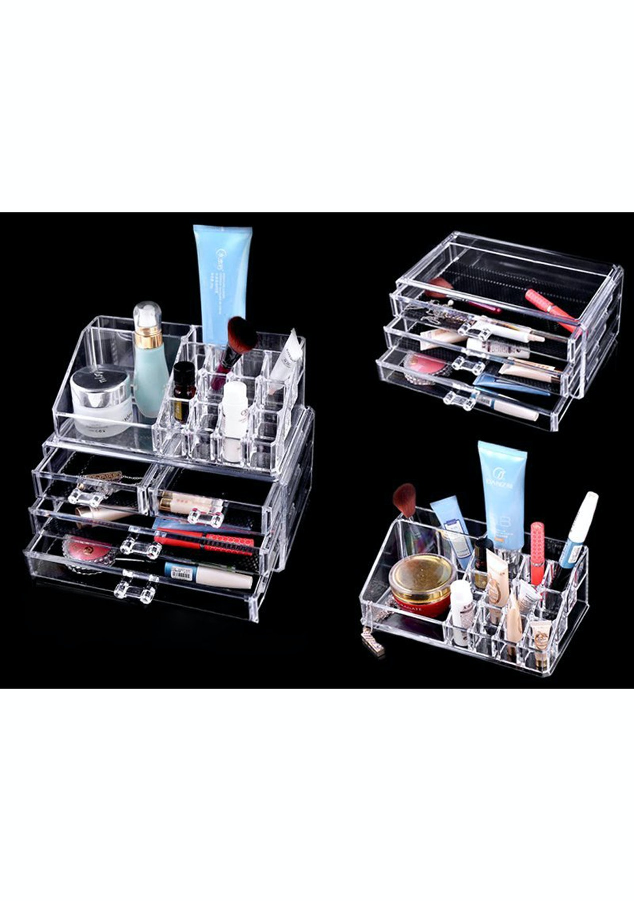 4 Drawer Jewellery Cosmetic Storage Box  Cosmetic & Beauty