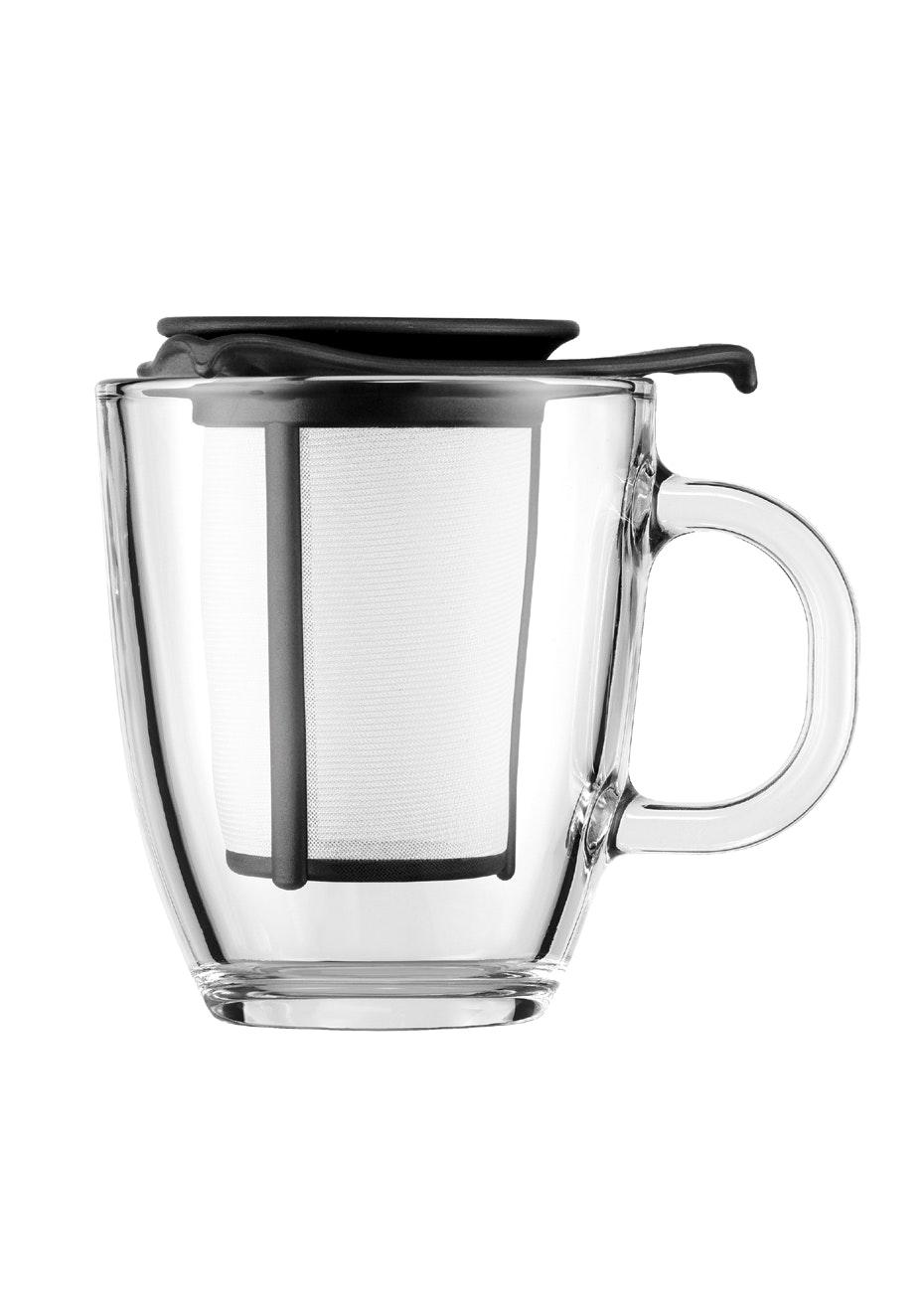 Bodum - Mug And Tea Strainer, 0.35L - Black