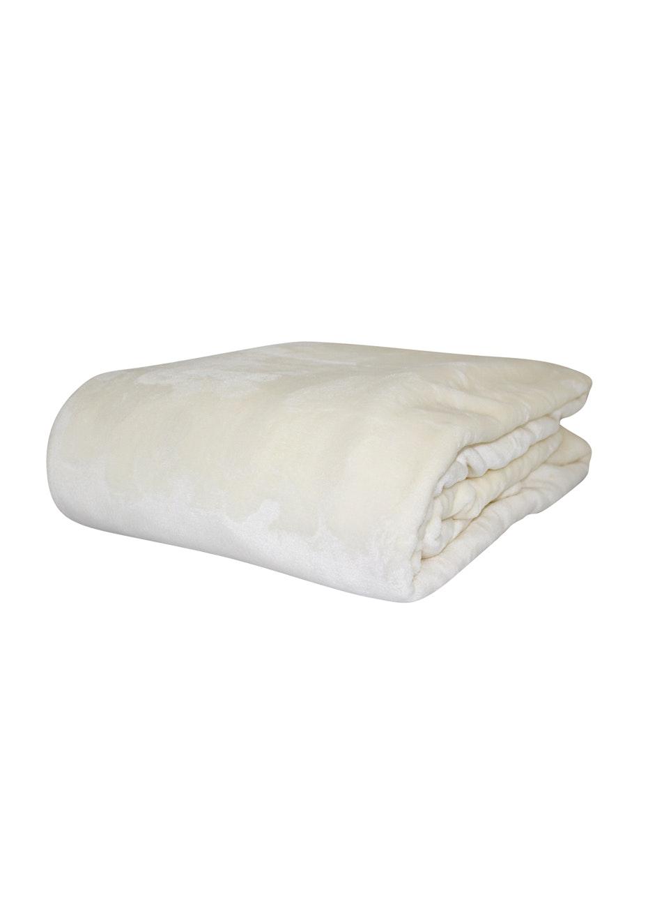 Super Soft Blanket - Champagne - Single Bed