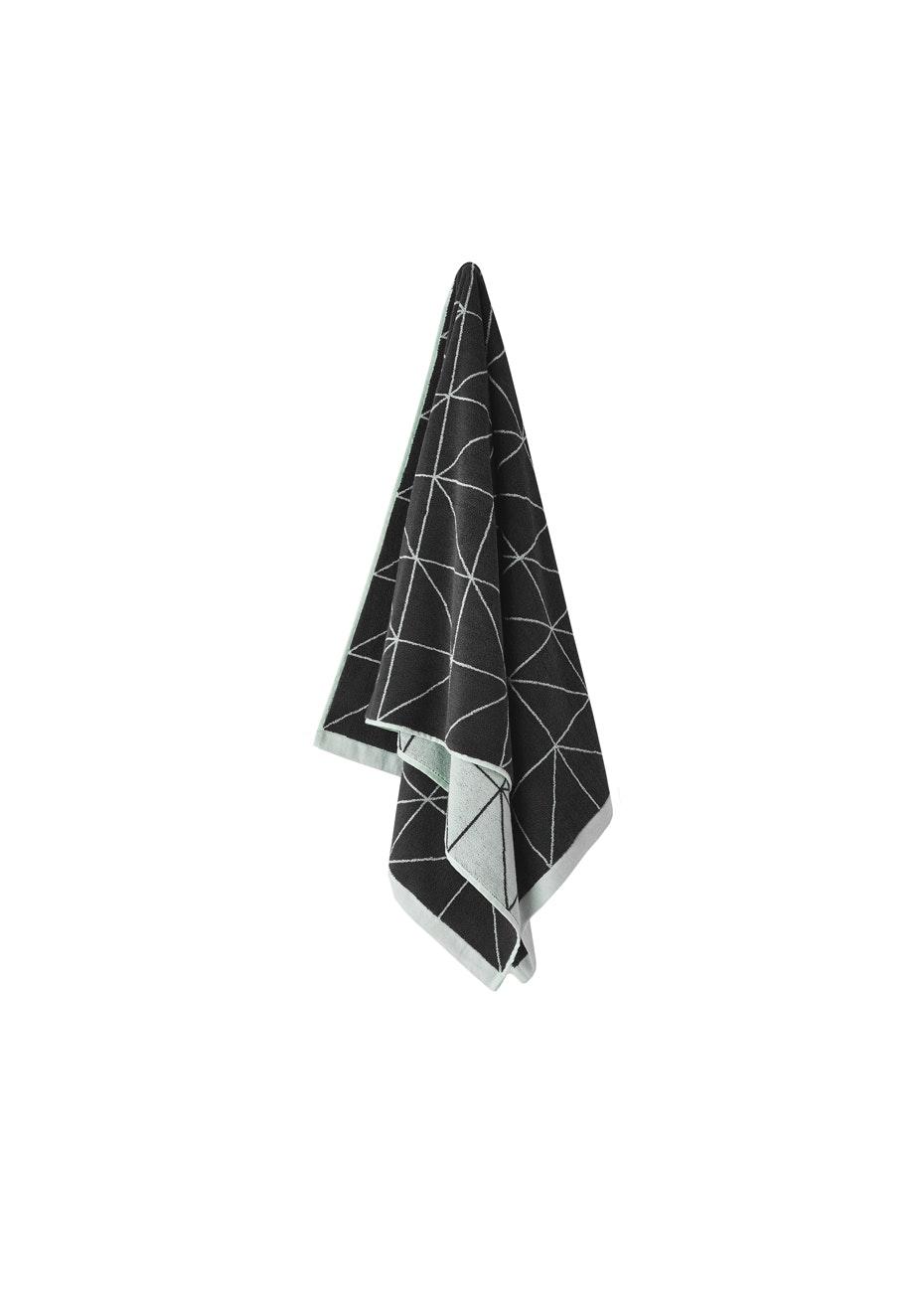 Aura Kami Bath Towel 700 X 1400Mm Charcoal
