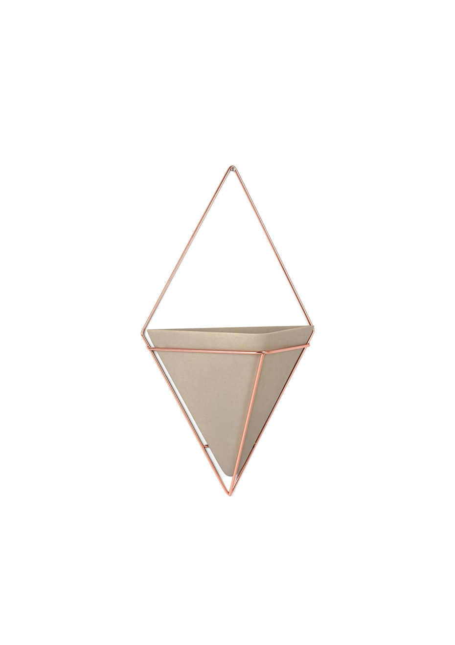 Umbra - Trigg - Geo Wall Vessel - Set of 2 - Concrete/copper