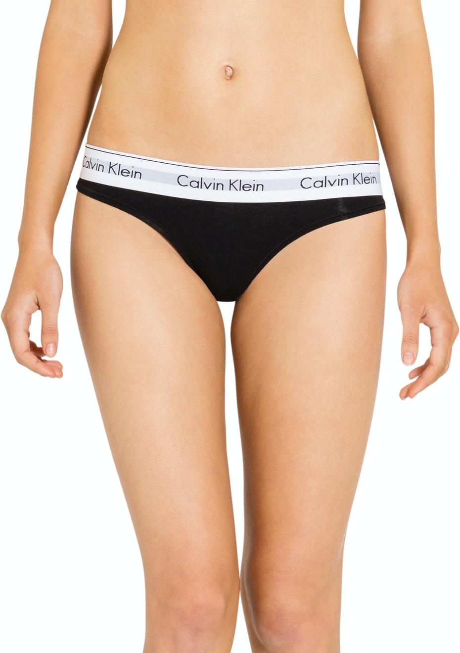 Calvin Klein - Modern Cotton, Thong - Black