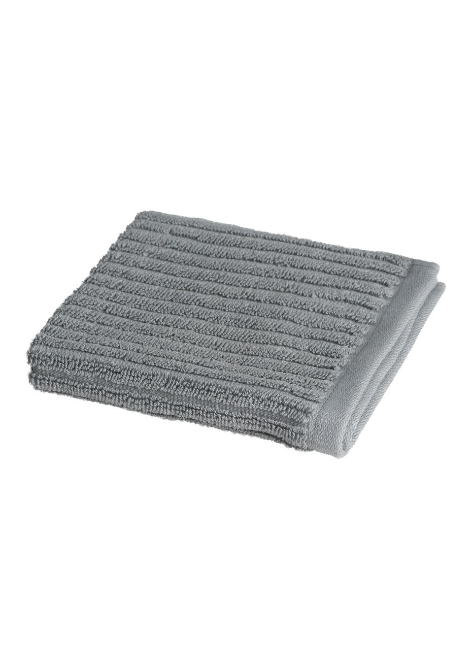 Conran Signature Rib Face Washer Concrete