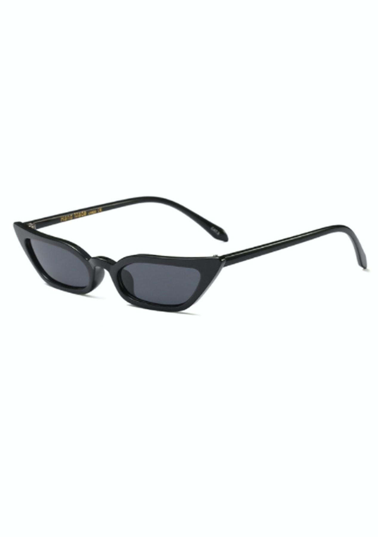 d8085f3d7a1 Slim Cat Eye Sunglasses - Black - On Trend Sunnies   Bags - Onceit