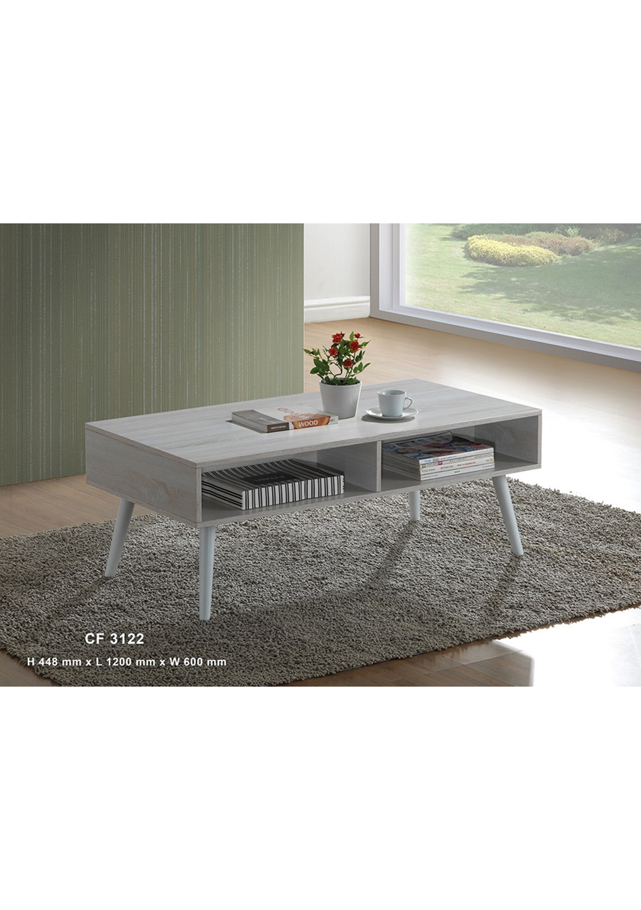 Madison coffee table washed white scandi style furniture onceit geotapseo Image collections