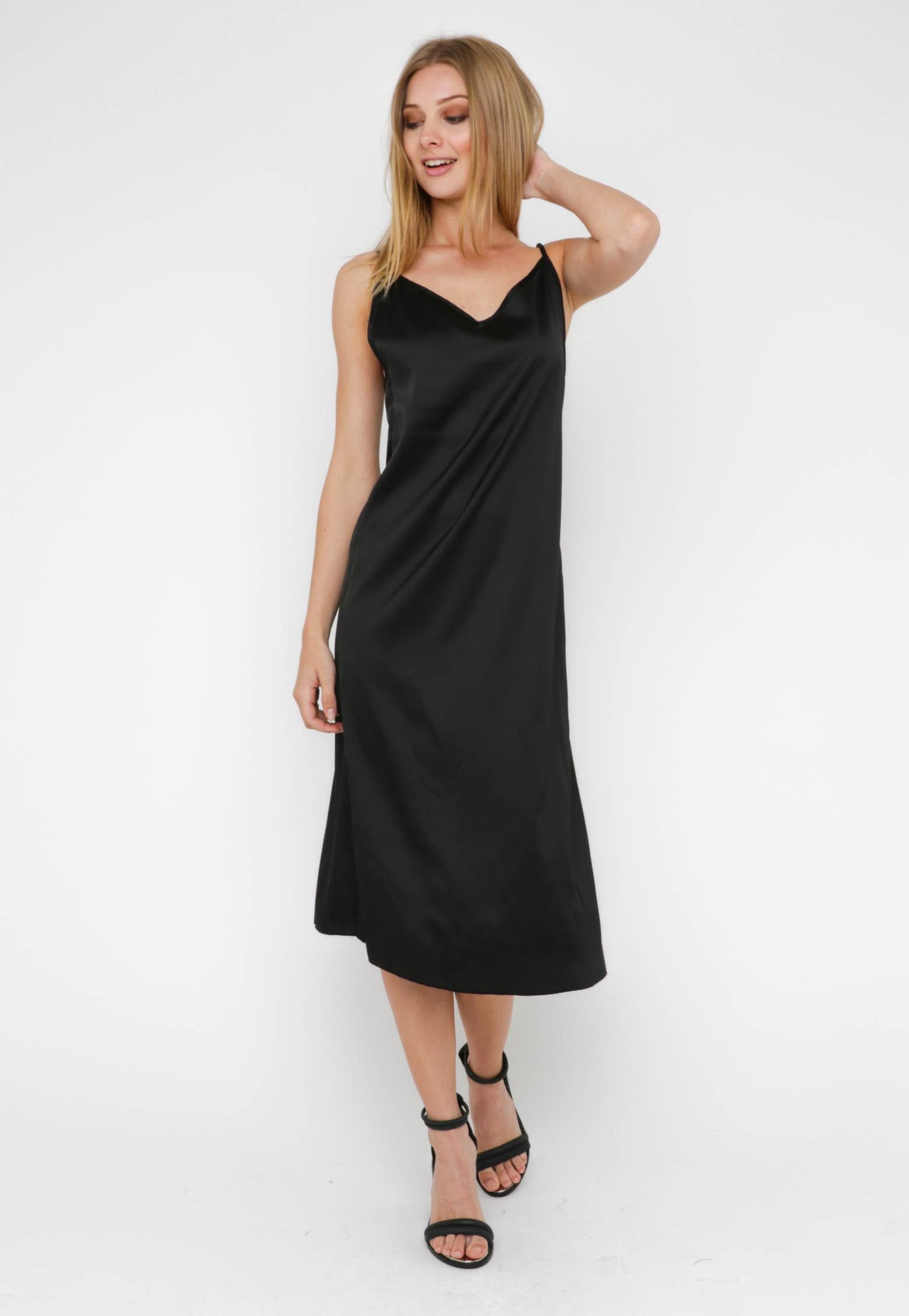 Lucelle Slip Dress - Black