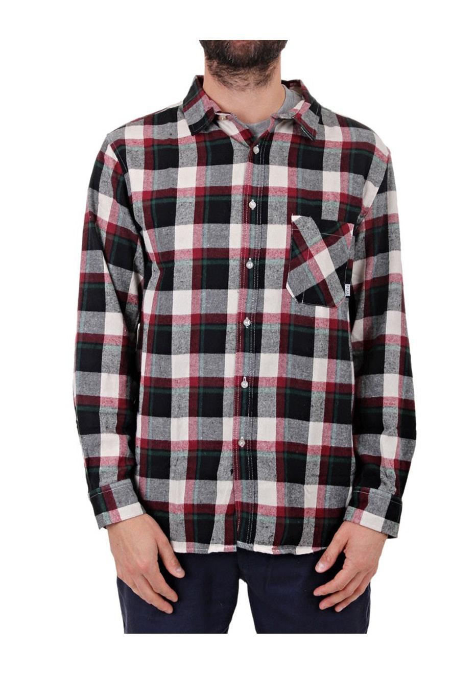 Poler - Long Sleeve Button Up Shirt - Black Plaid