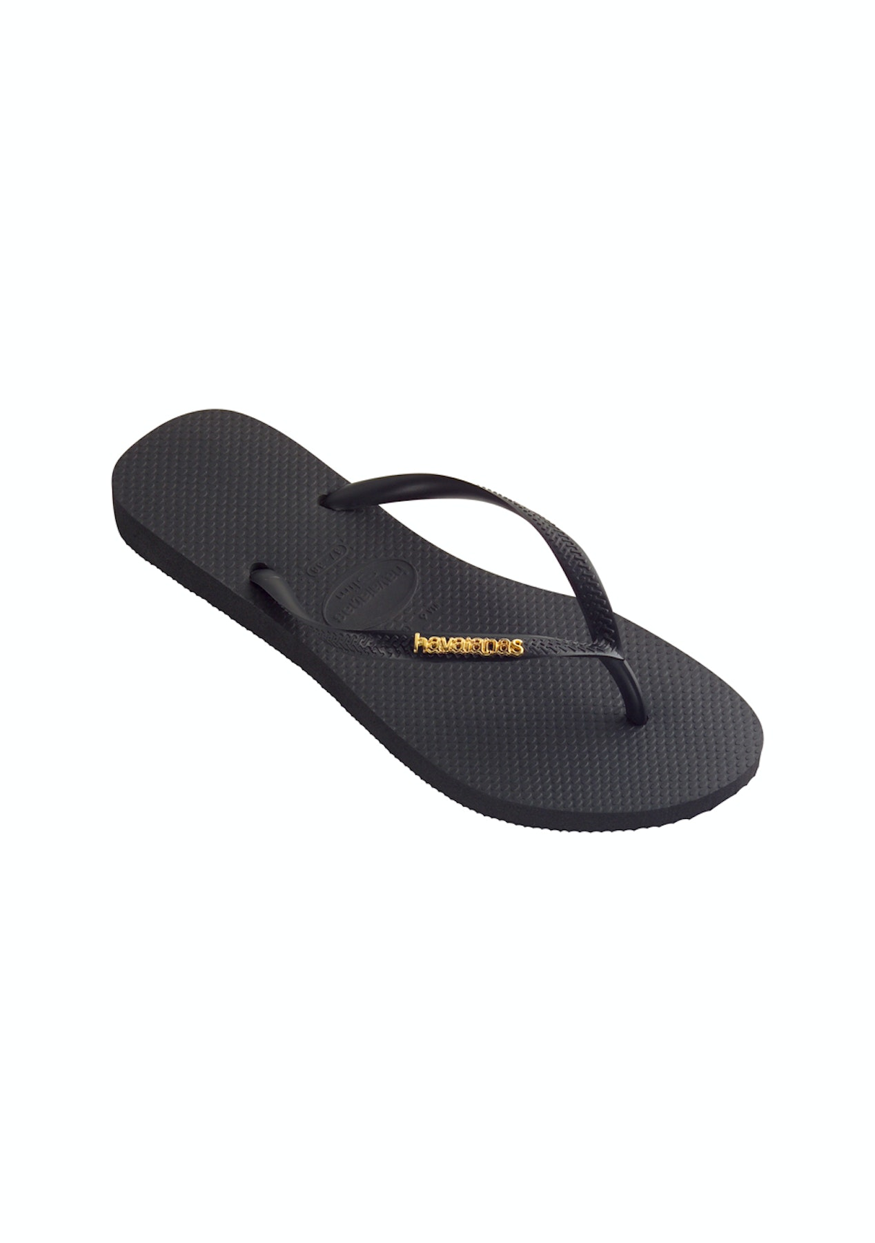 ab0d2d4c1 Havaianas - Slim Logo Metallic - Black Gold - Havaianas for the Family from   10 - Onceit