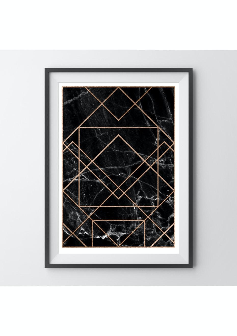 Simply Creative - Obsidian - A3 Copper Foil Print