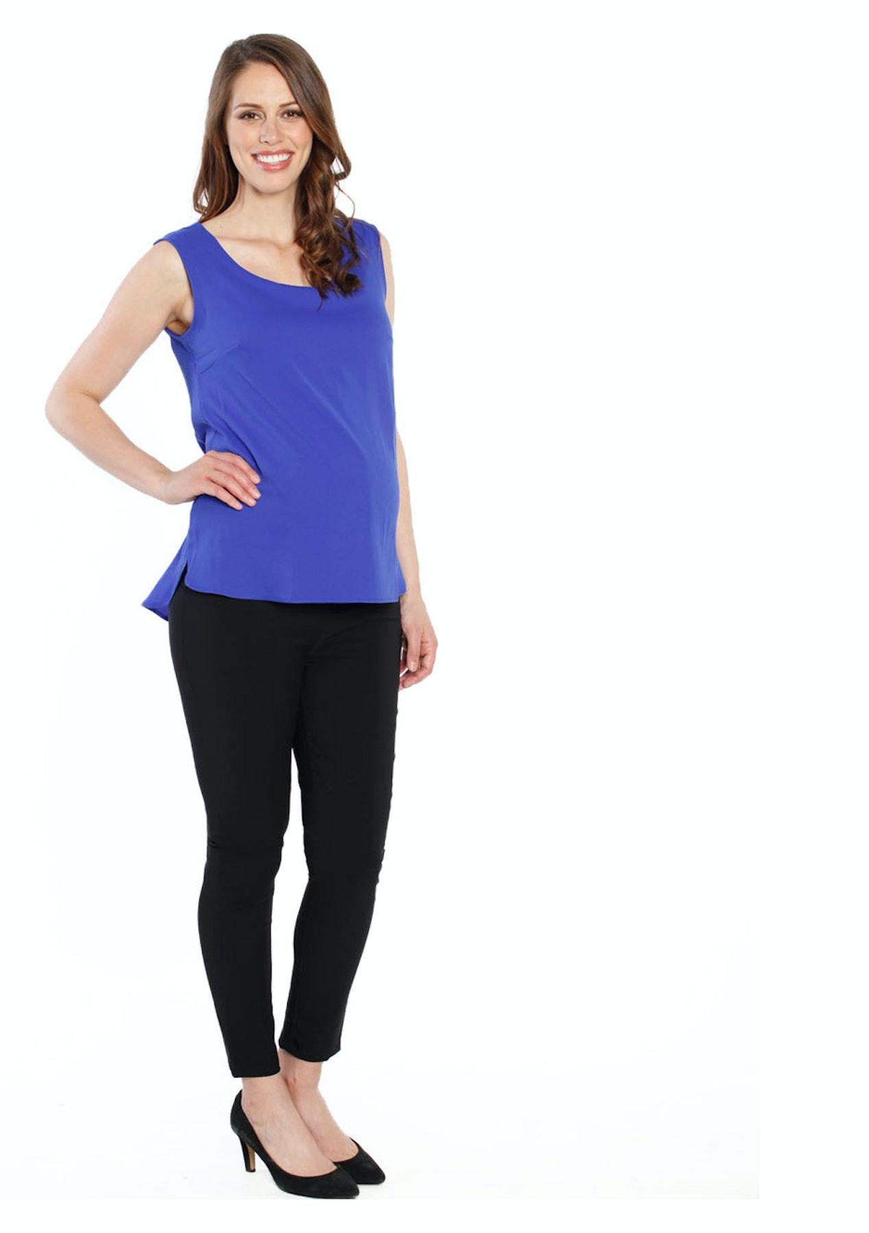 e648392e70dfe Angel Maternity - Breastfeeding Layered Chiffon Nursing Top - Cobalt Blue -  Love Your Bump - On Trend Maternity Wear - Onceit