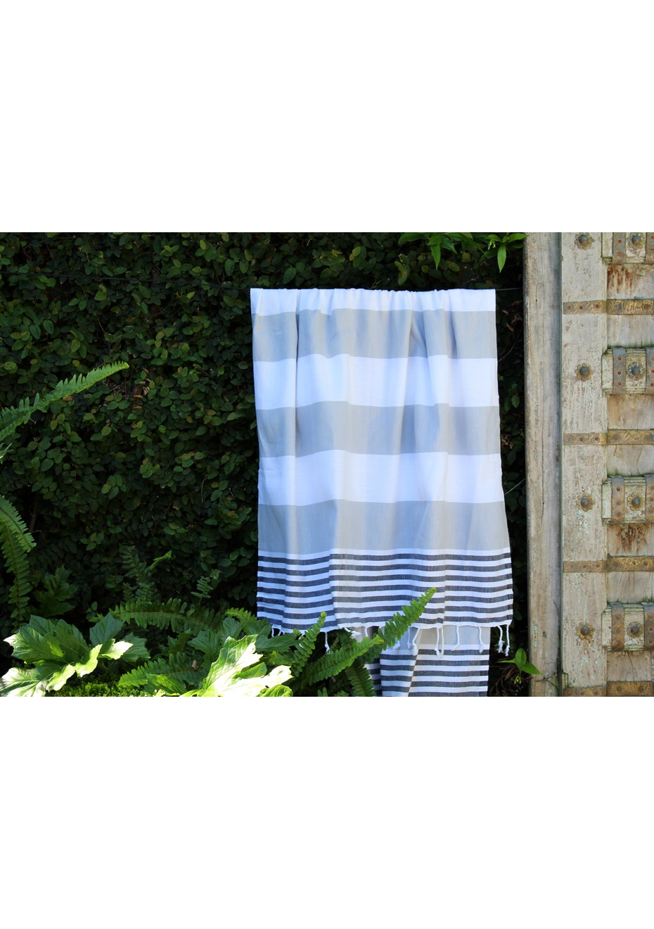 Ladon Grey & Black Turkish Towel