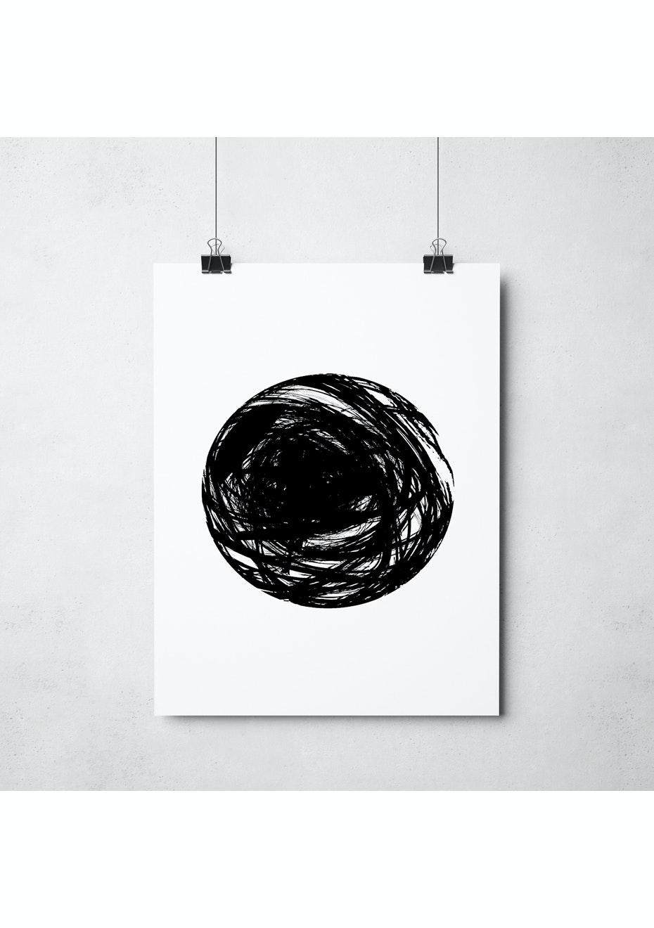 Simply Creative - Circle - A3 Monochrome Print