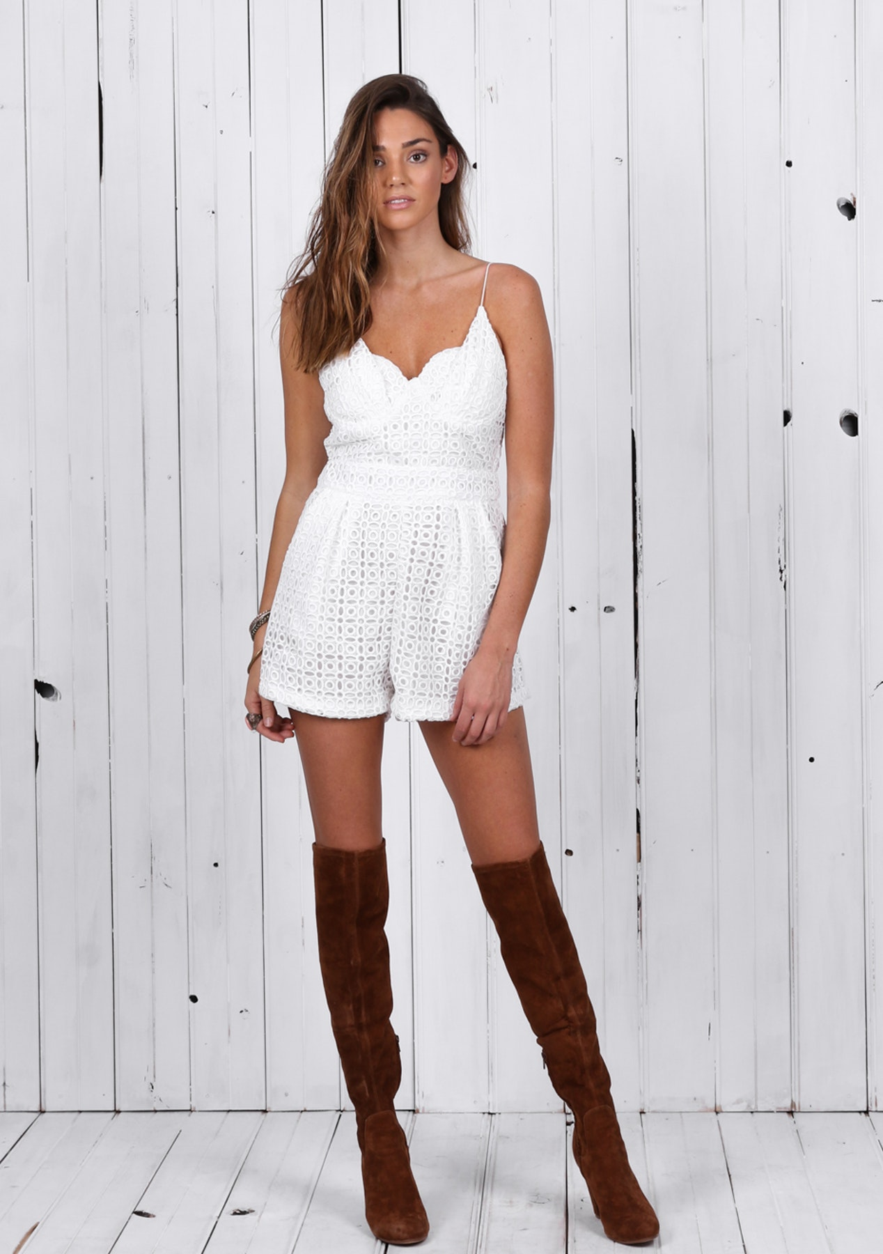 4eed4984f651 Risky Business Romper - White - Queens Crown Jewels - Onceit