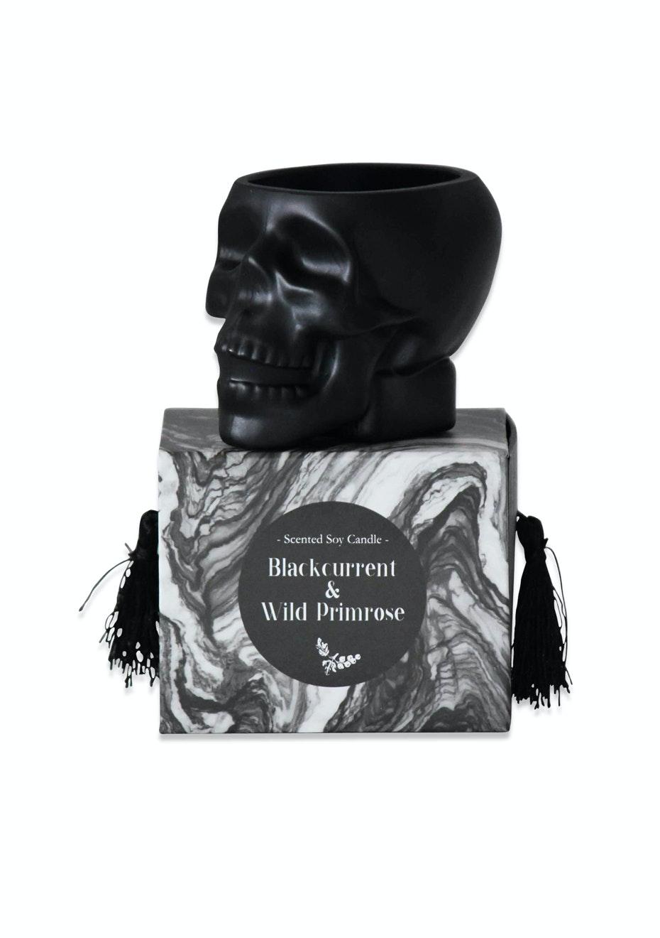 Me & My Trend - Black Skull Blackcurrent & Primrose Candle
